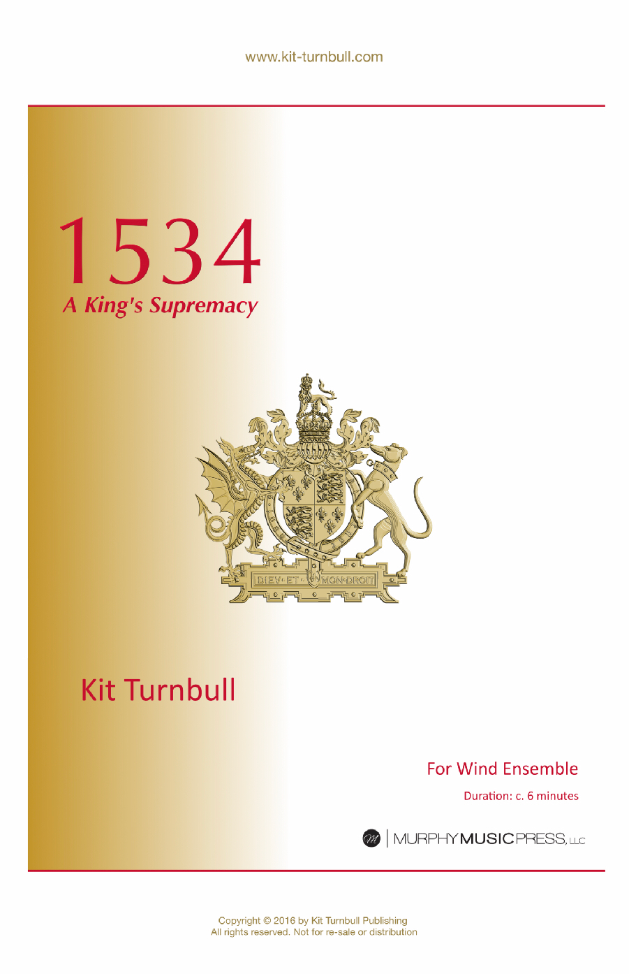 1534: A Kings Supremacy  by Kit Turnbull