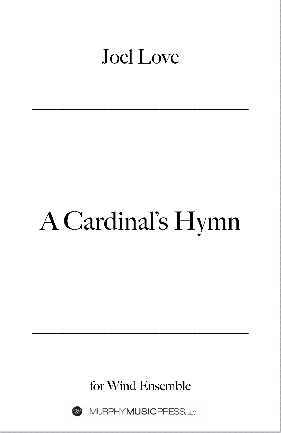 A Cardinals Hymn  by Joel Love