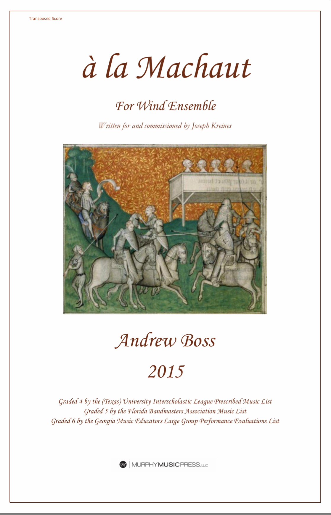 A La Machaut (score Only) by Andrew Boss