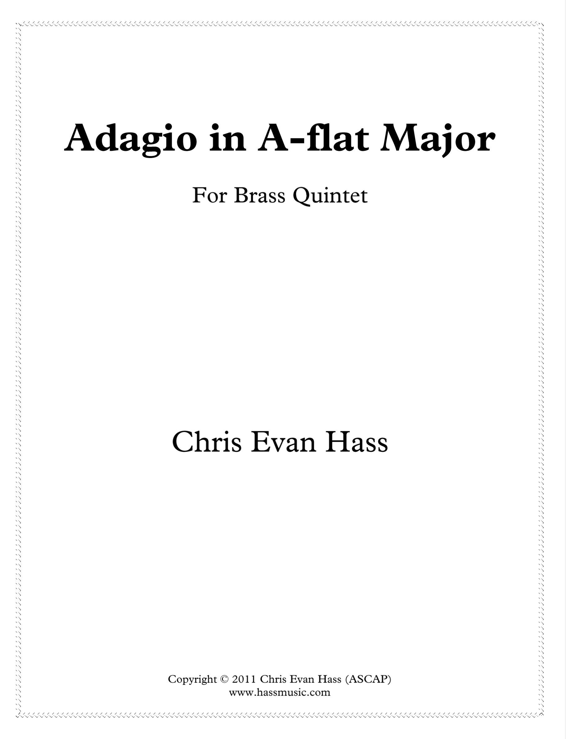 Adagio In Ab Major by Chris Evan Hass
