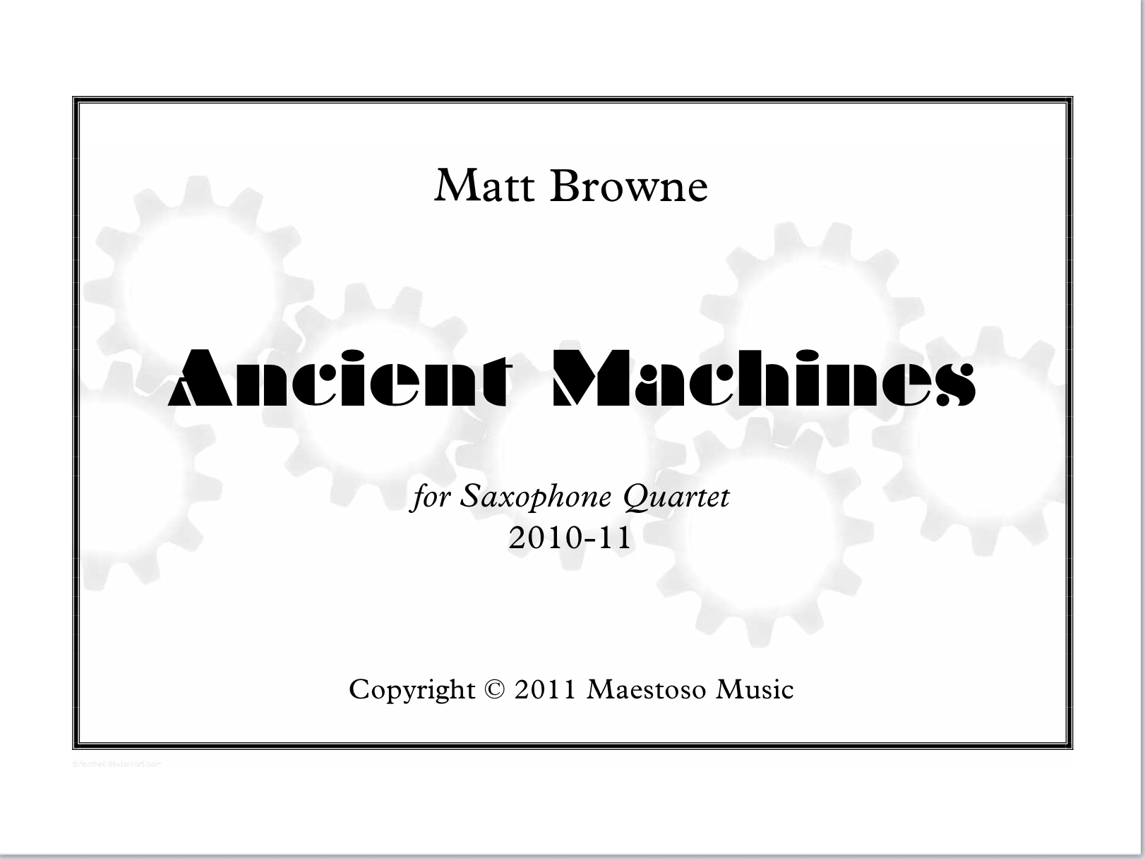Ancient Machines  by Matthew Browne