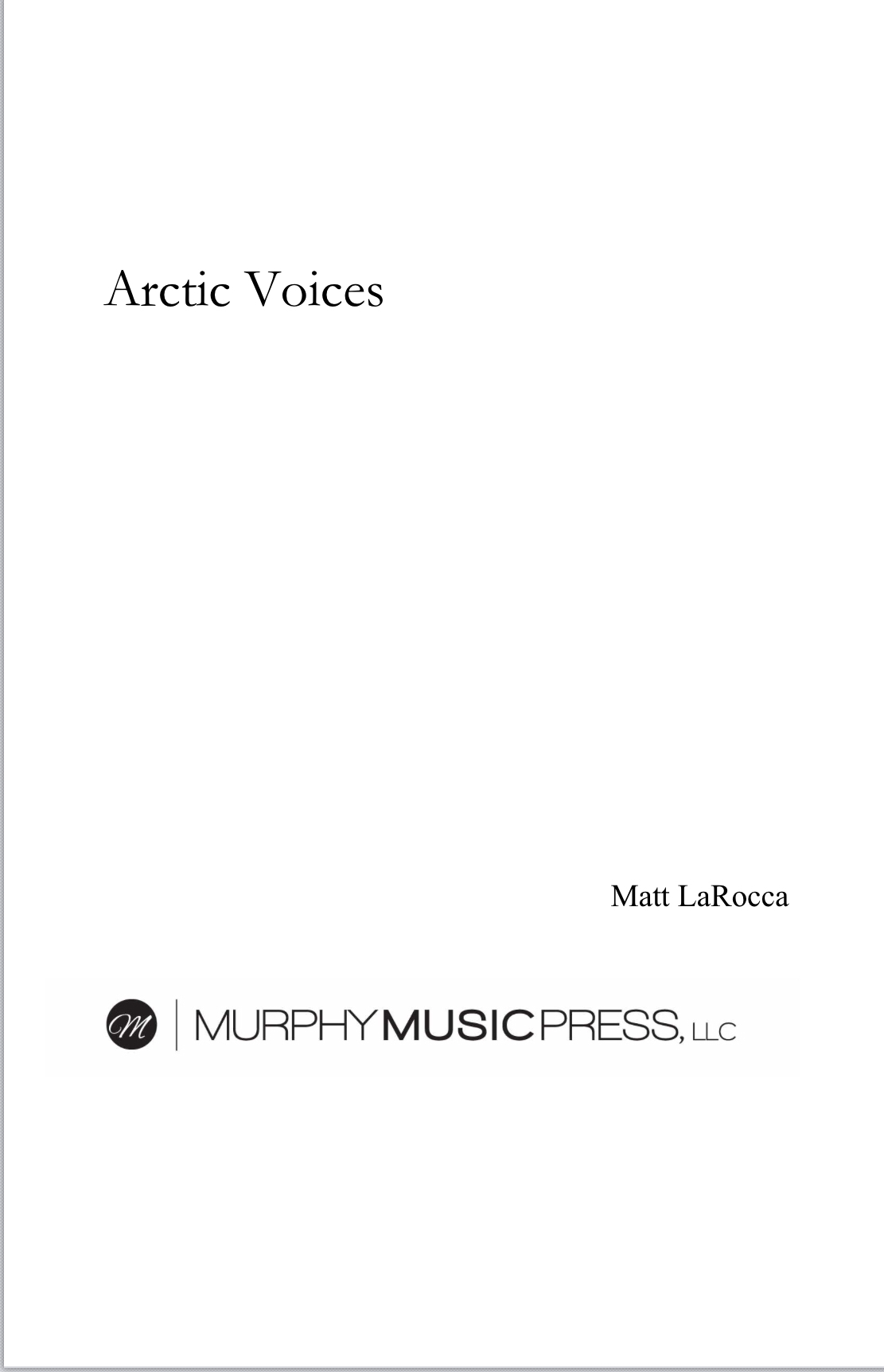 Arctic Voices by Matt LaRocca