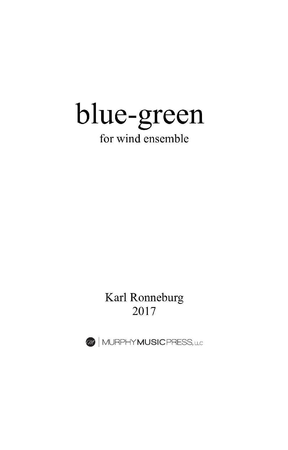 Blue-Green by Karl Ronneburg