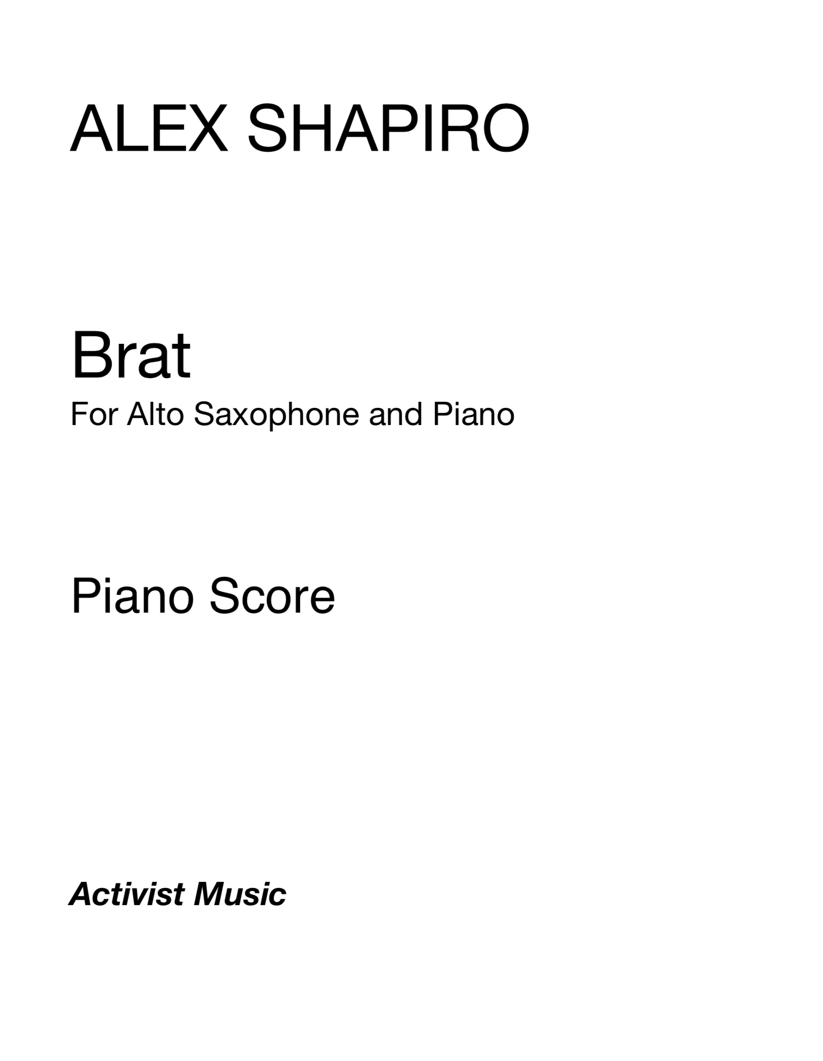 Brat by Alex Shapiro