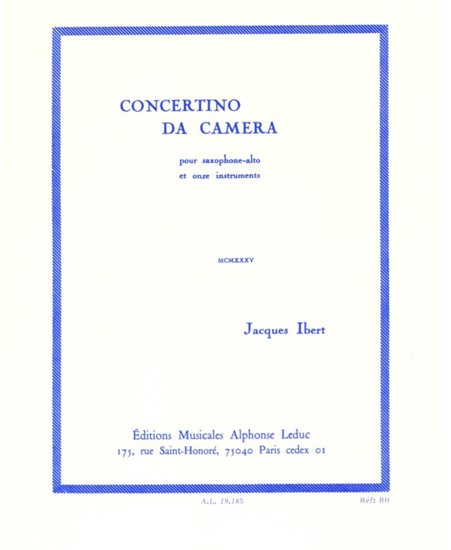 Concertino Da Camera by Jacques Ibert