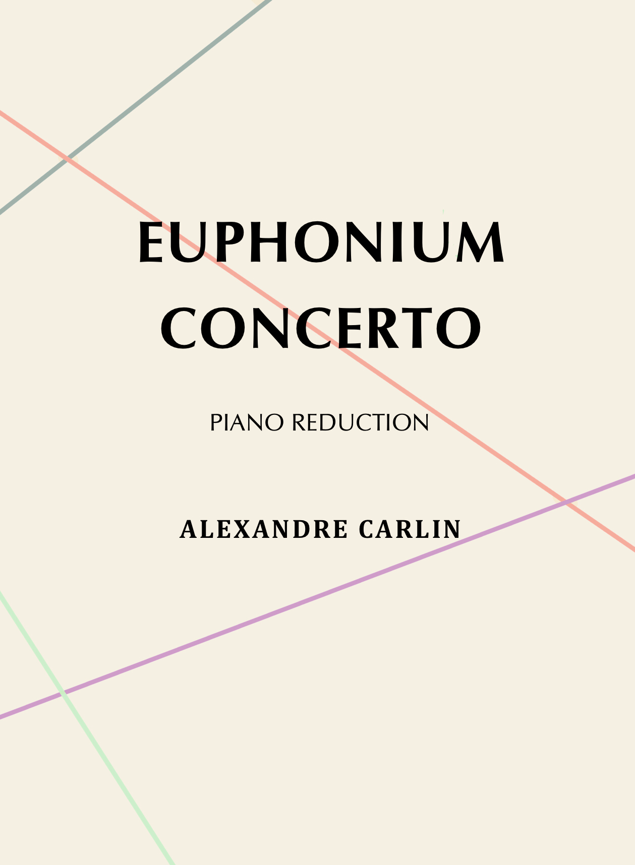 Concerto For Euphonium, Piano Reduction by Alexandre Carlin