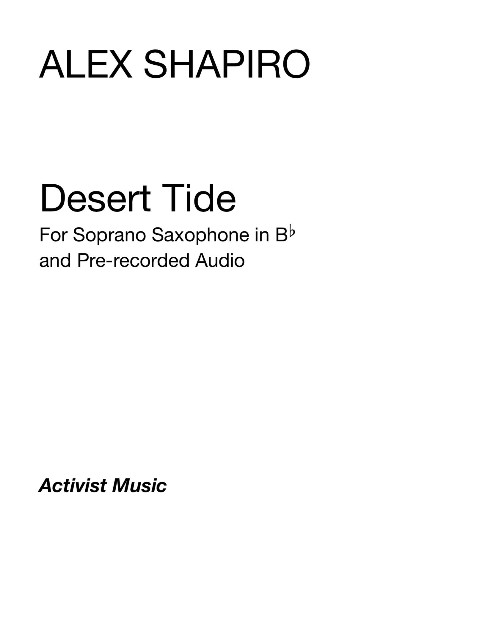 Desert Tide by Alex Shapiro