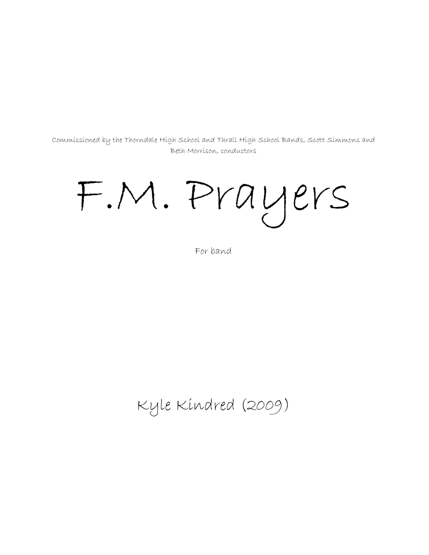 FM Prayers  by Kyle Kindred