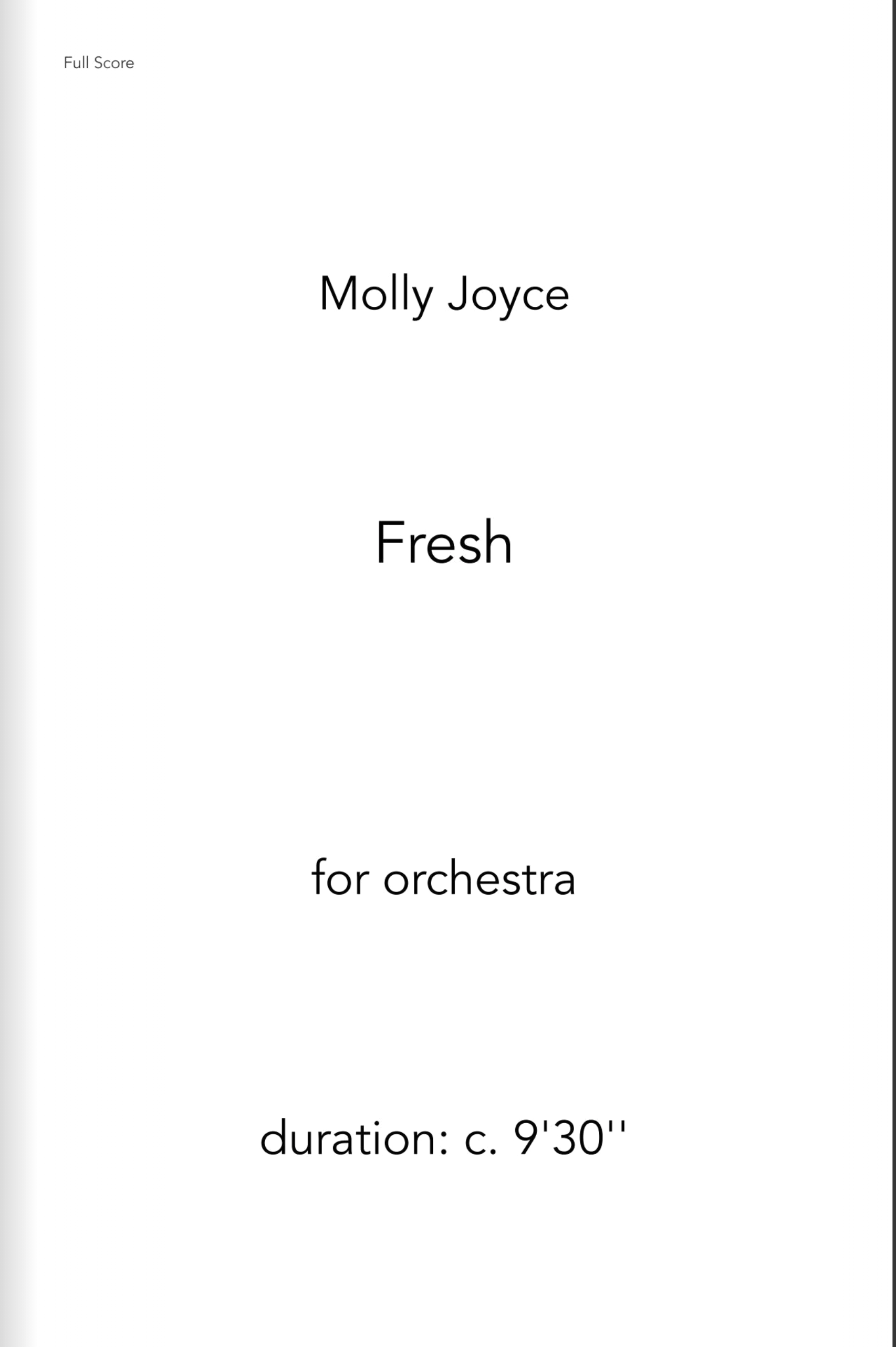 Fresh by Molly Joyce