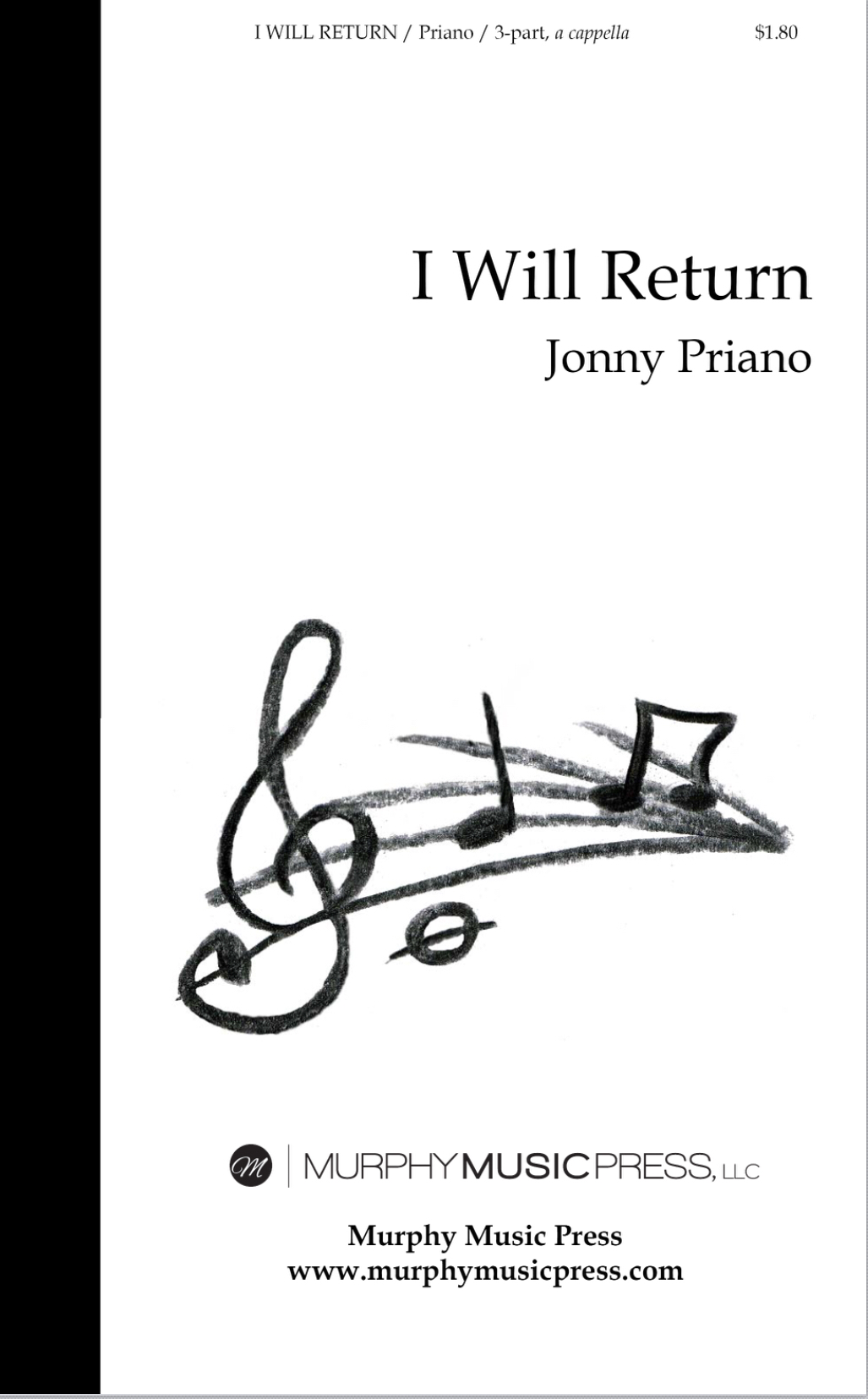 I Will Return (3 Part A Cappella) by Jonny Priano