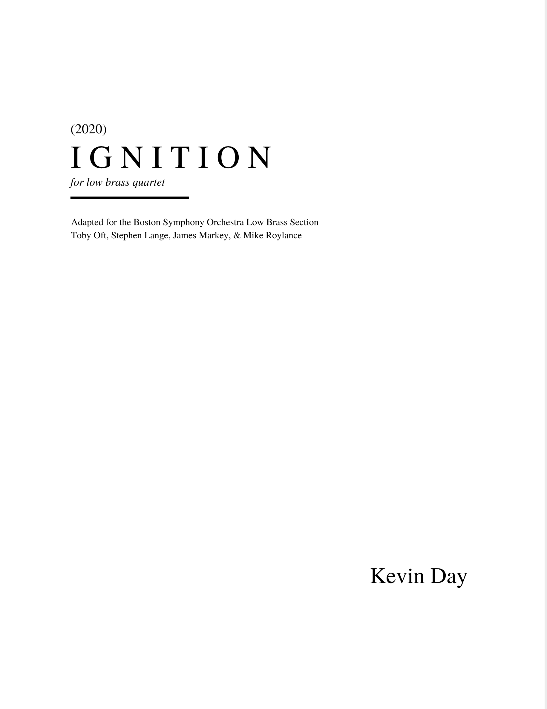 Ignition (PDF Version) by Kevin Day