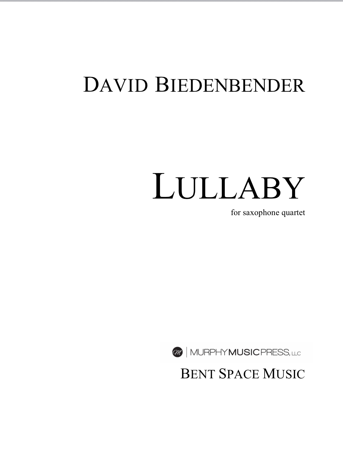 Lullaby From Cerulean  by David Biedenbender's