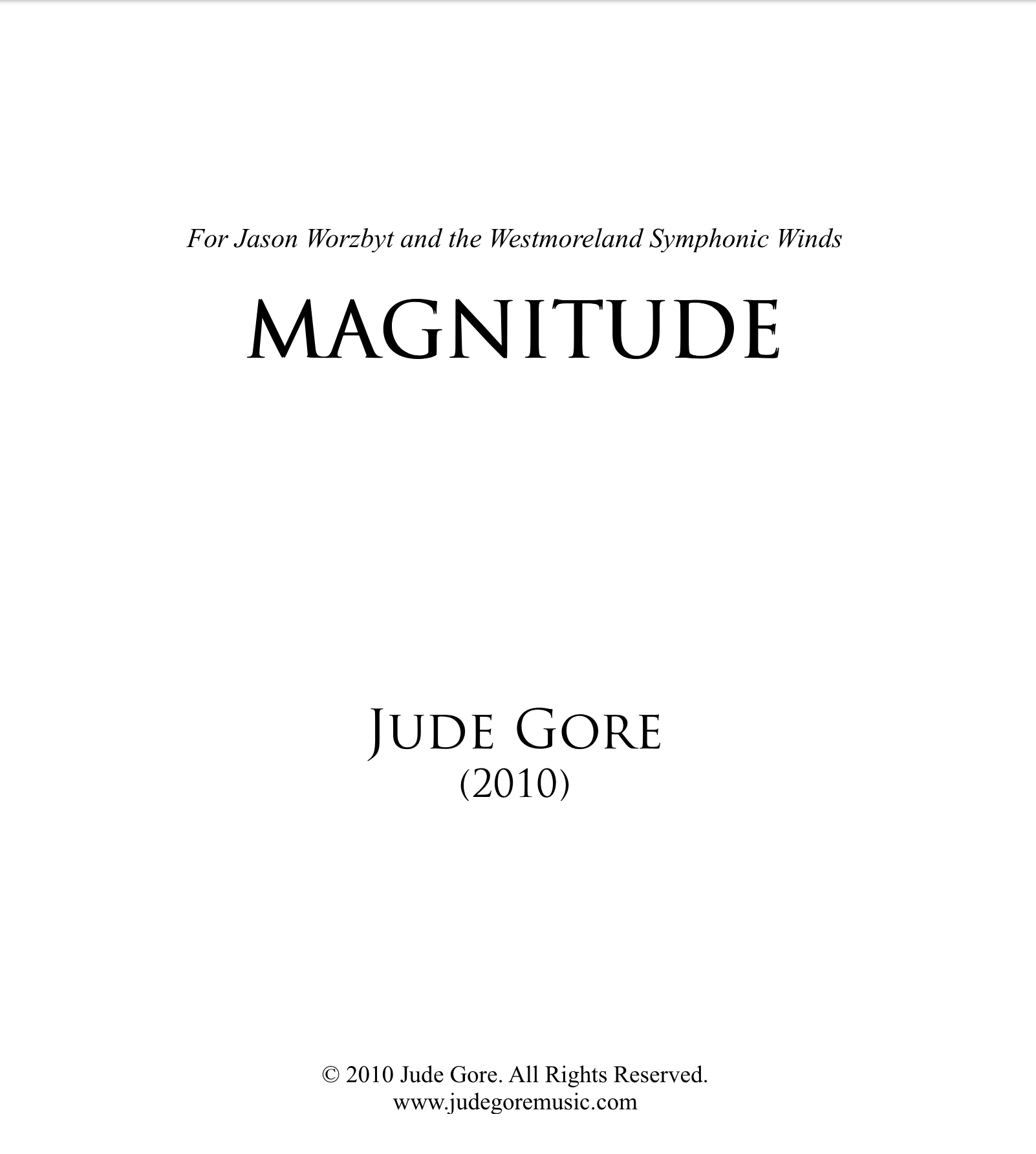 Magnitude  by Jude Gore