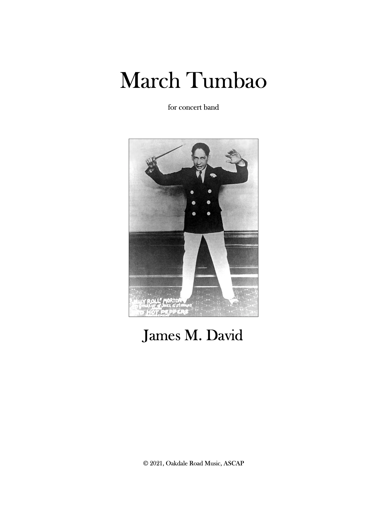 March Tumbao (Version For Full Band) by James David