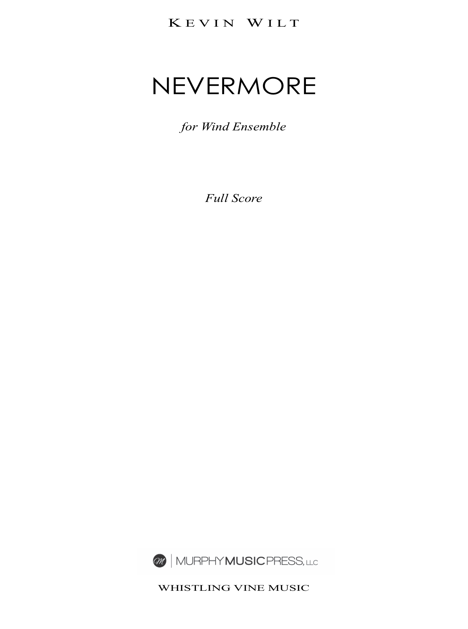 Nevermore (Parts Rental Only) by Kevin Wilt