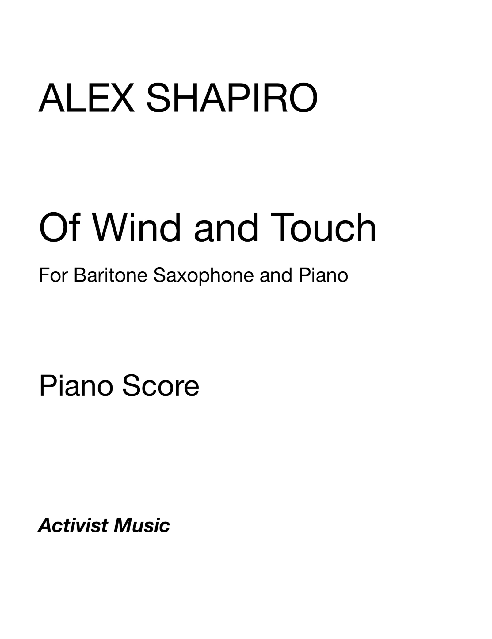 Of Wind And Touch by Alex Shapiro