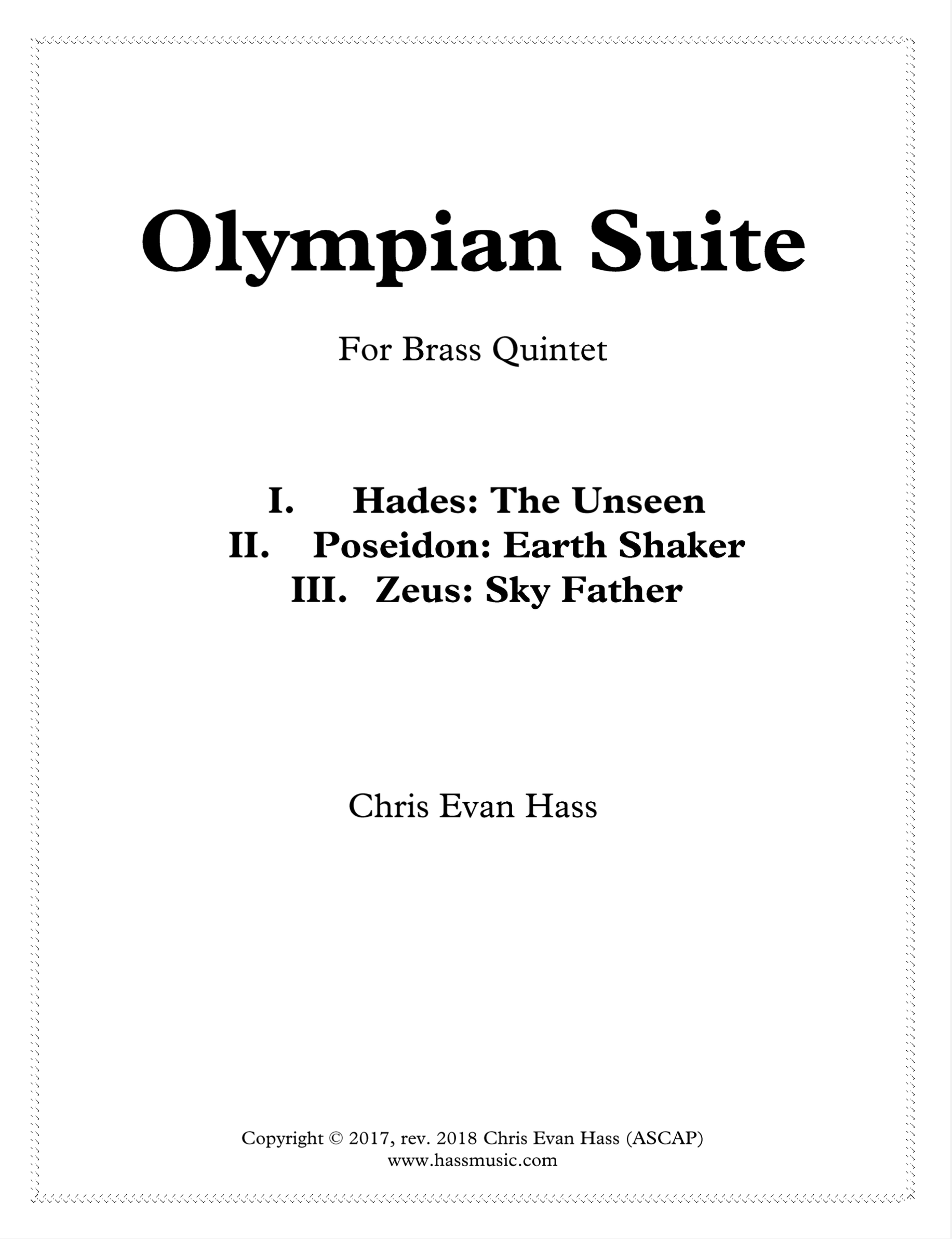 Olympian Suite by Chris Evan Hass