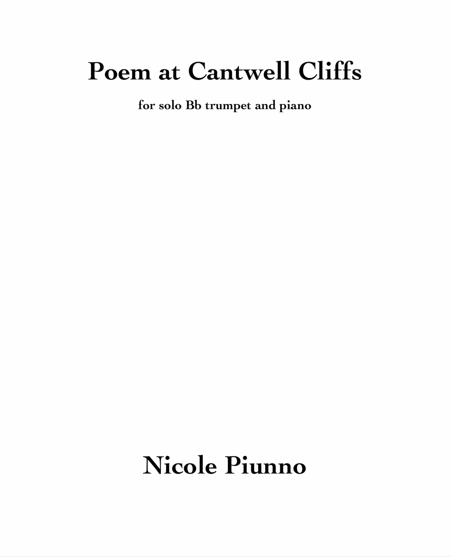 Poem At Cantwell Cliffs by Nicole Piunno