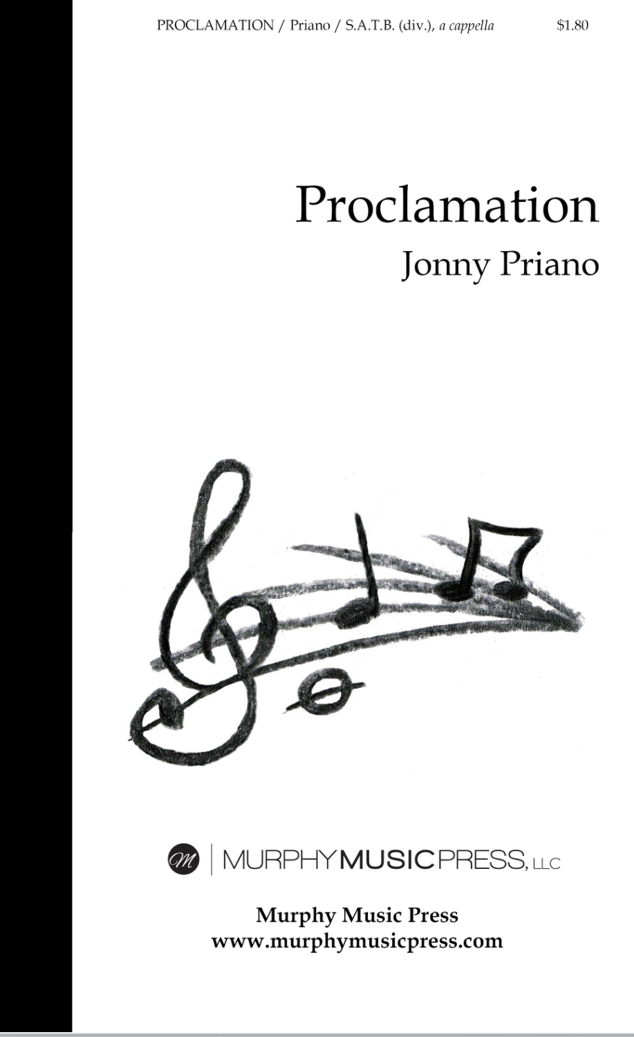 Proclamation (SATB A Cappella) by Jonny Priano