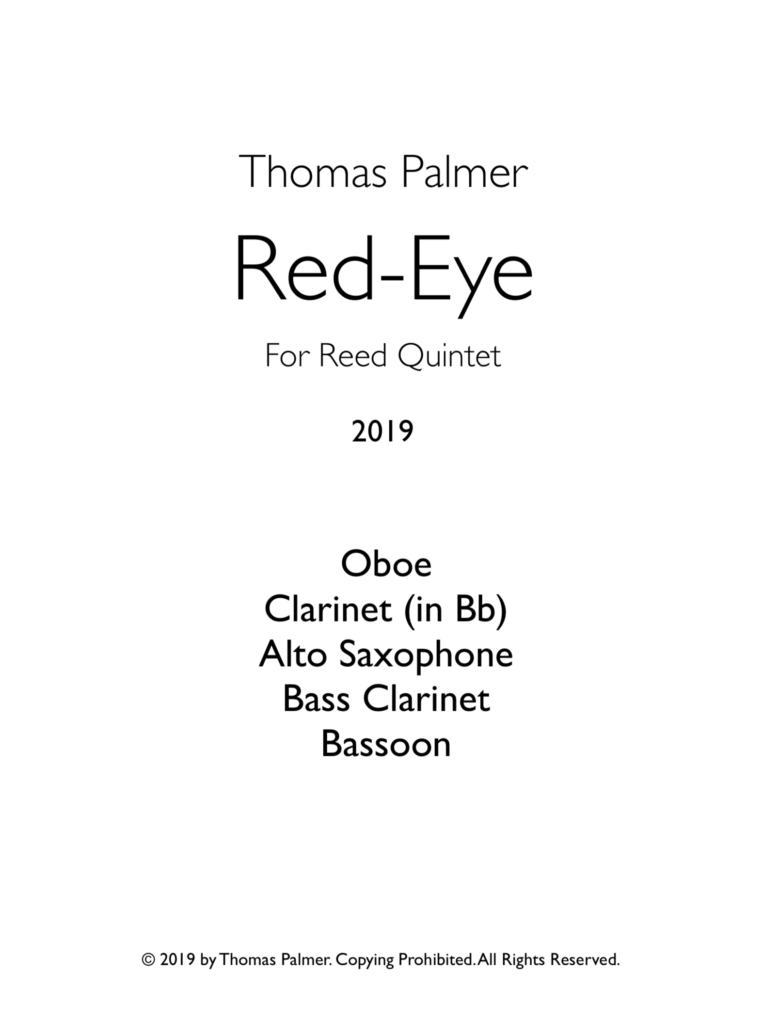 Red Eye by Thomas Palmer