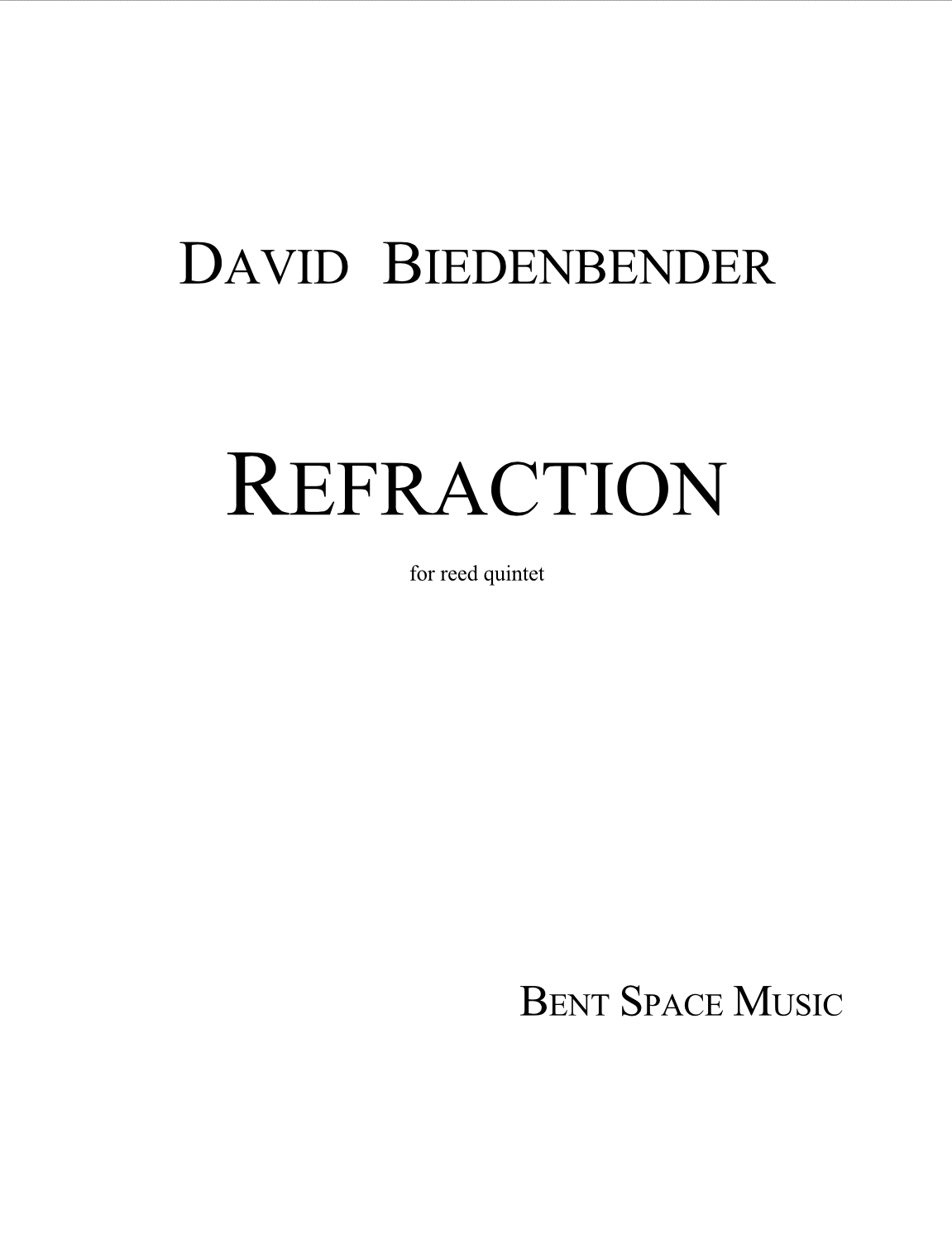 Refraction  by David Biedenbender