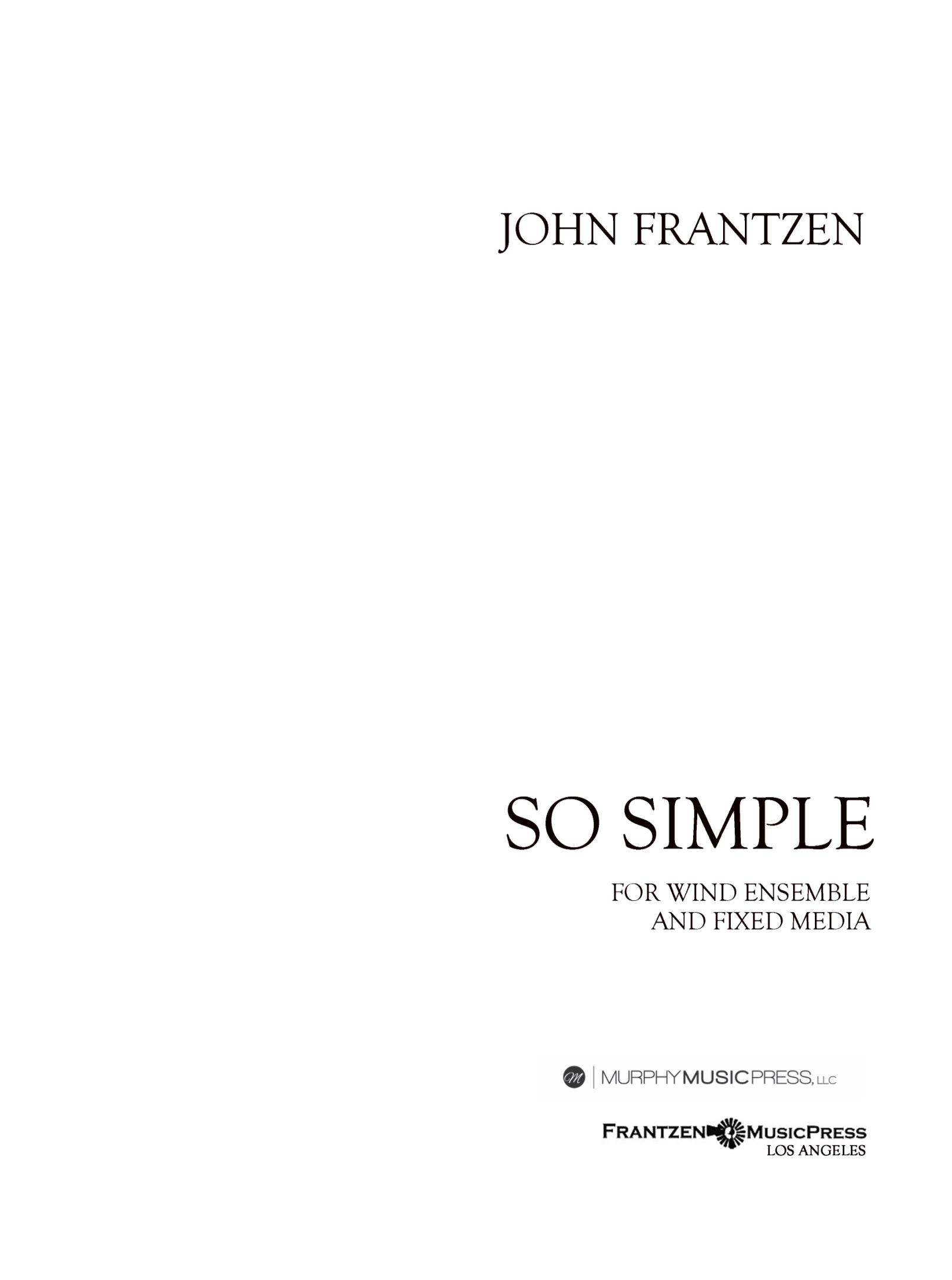 So Simple (Parts Rental Only) by John Frantzen