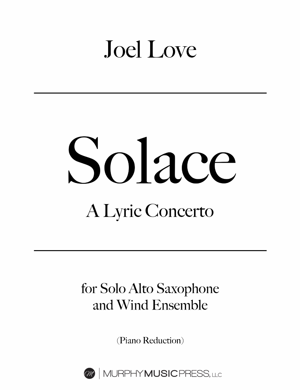 Solace (Piano Reduction) by Joel Love