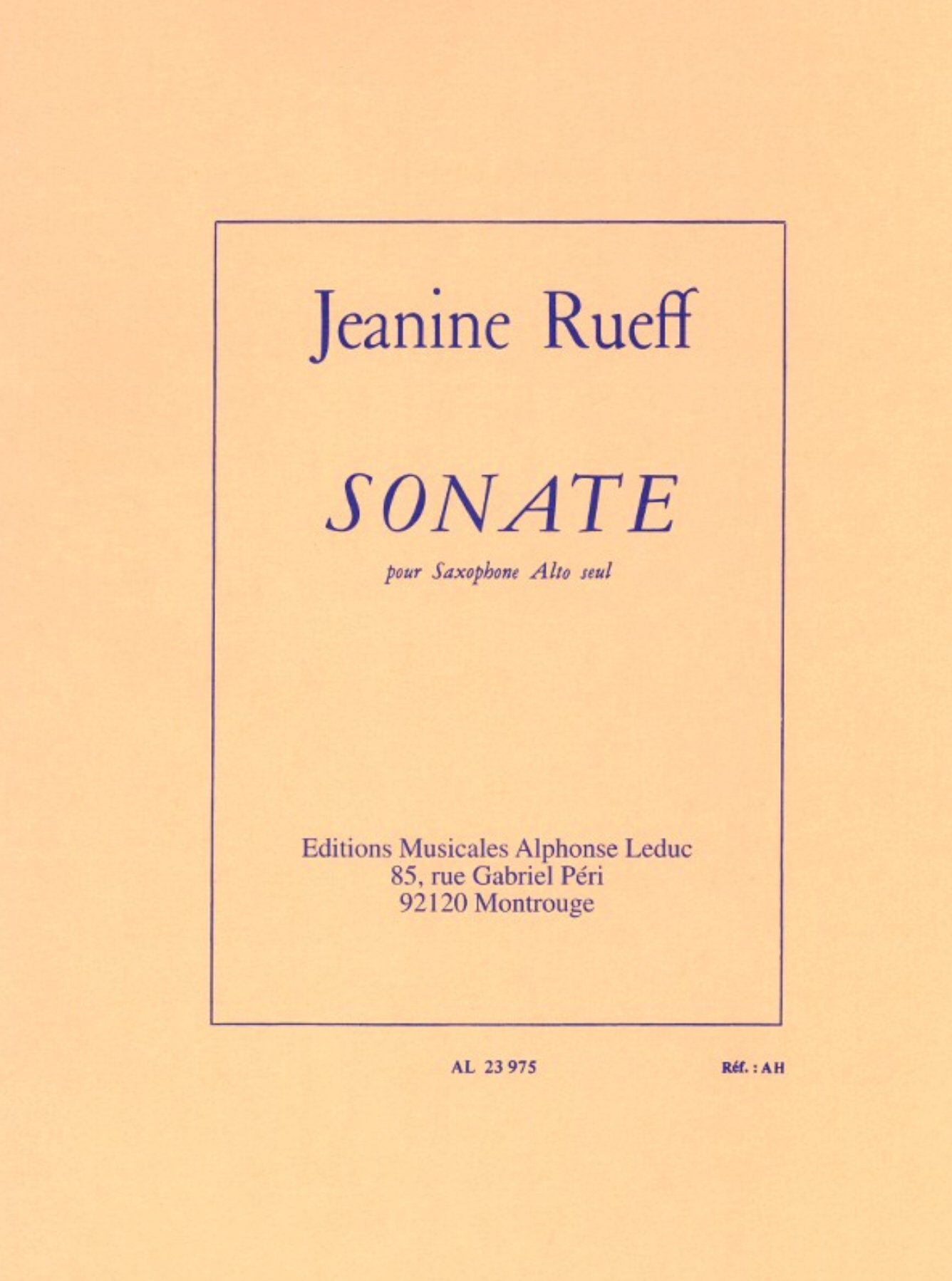Sonate  by Jeanine Rueff