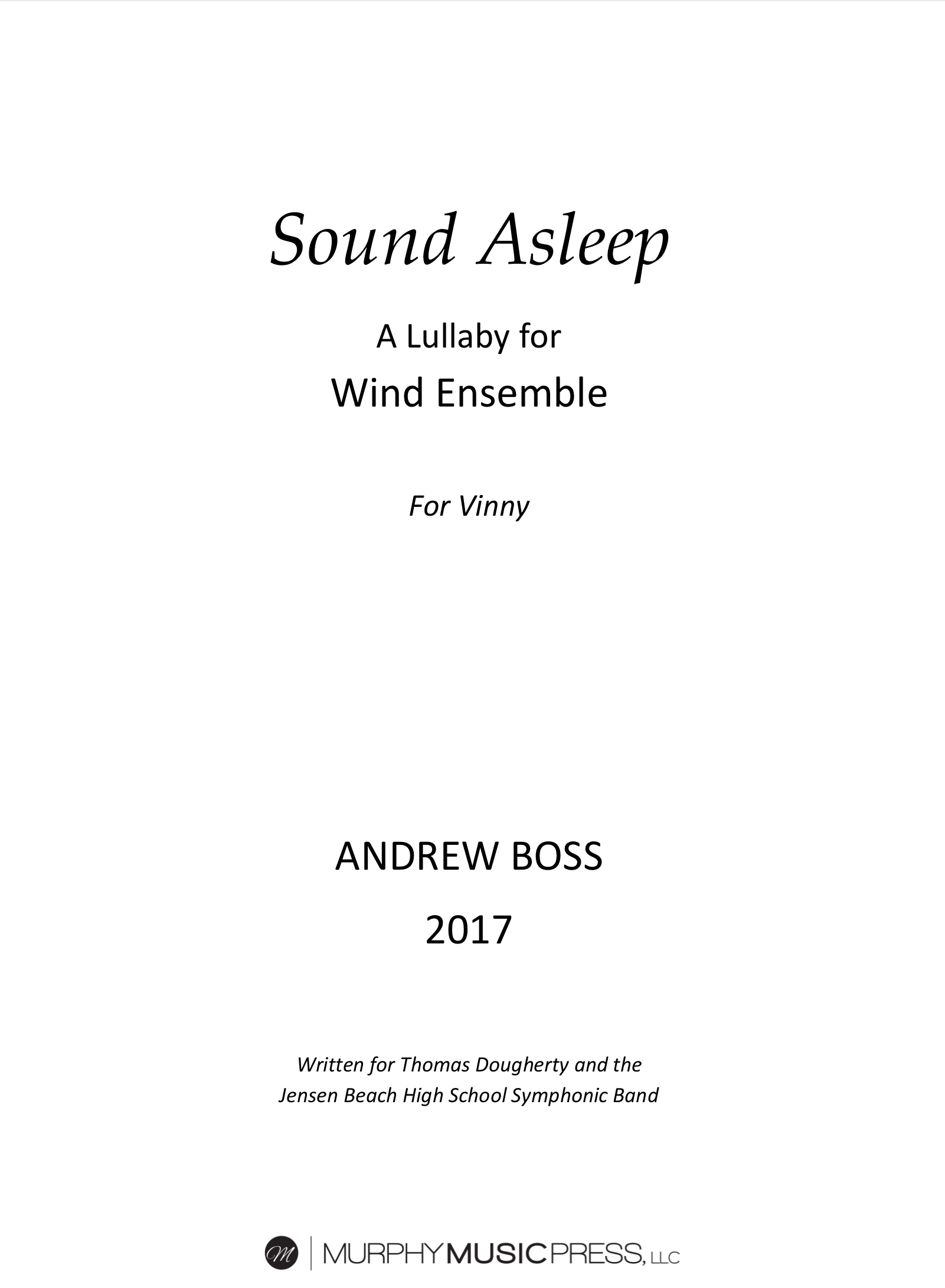 Sound Asleep by Andrew Boss