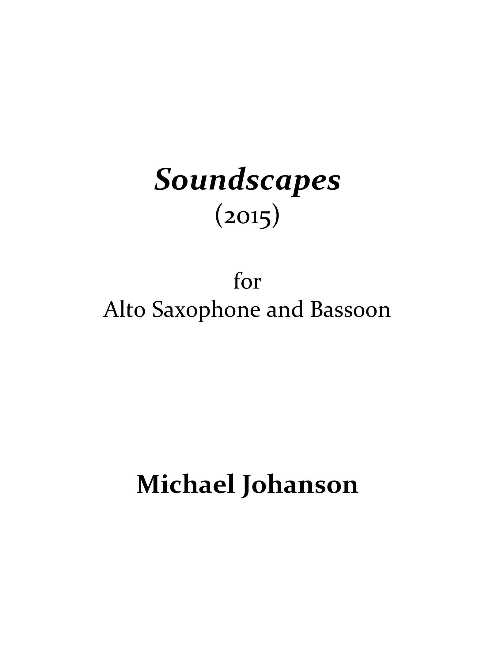Soundscapes  by Michael Johanson