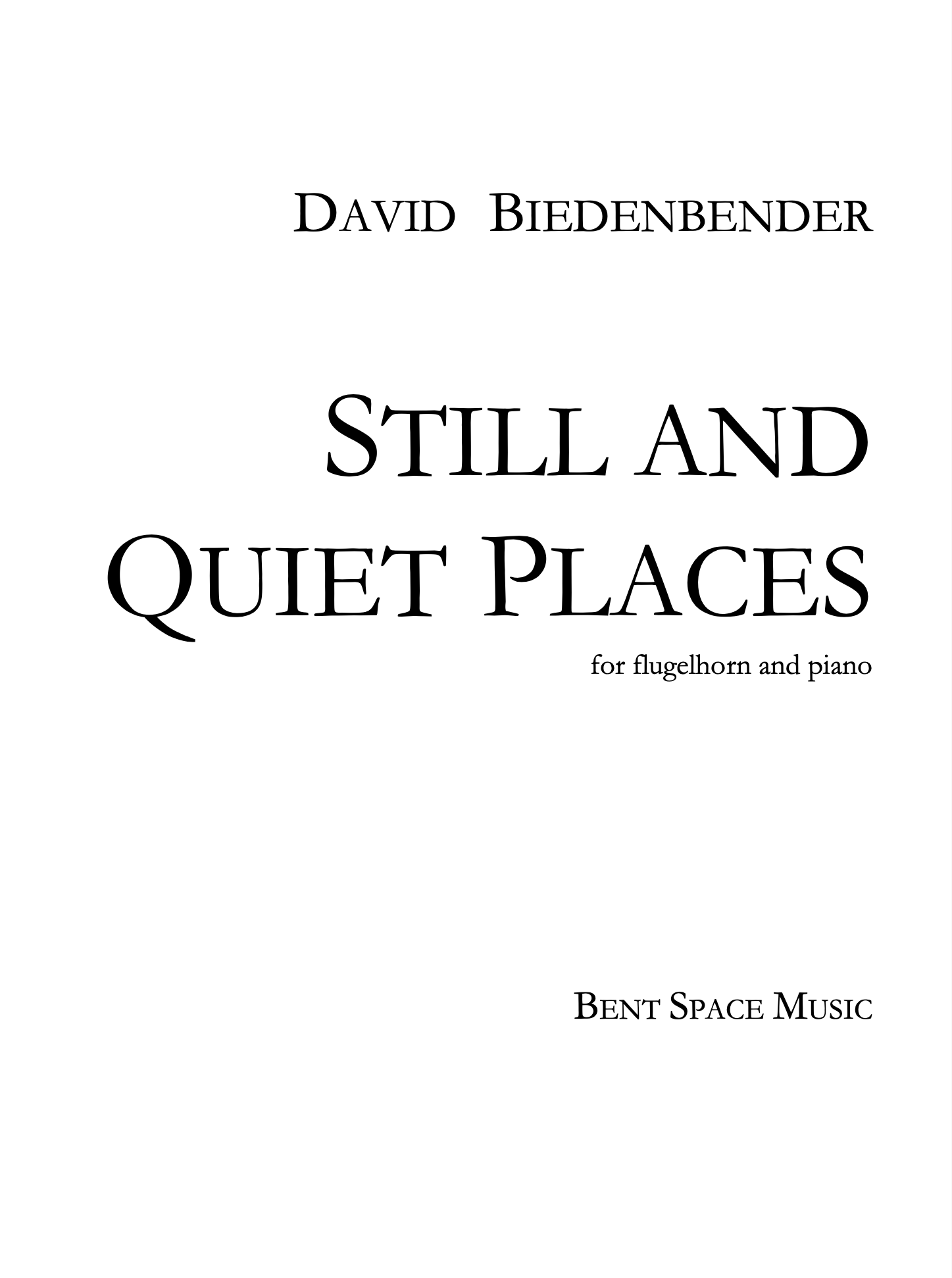 Still And Quiet Places by David Biedenbender