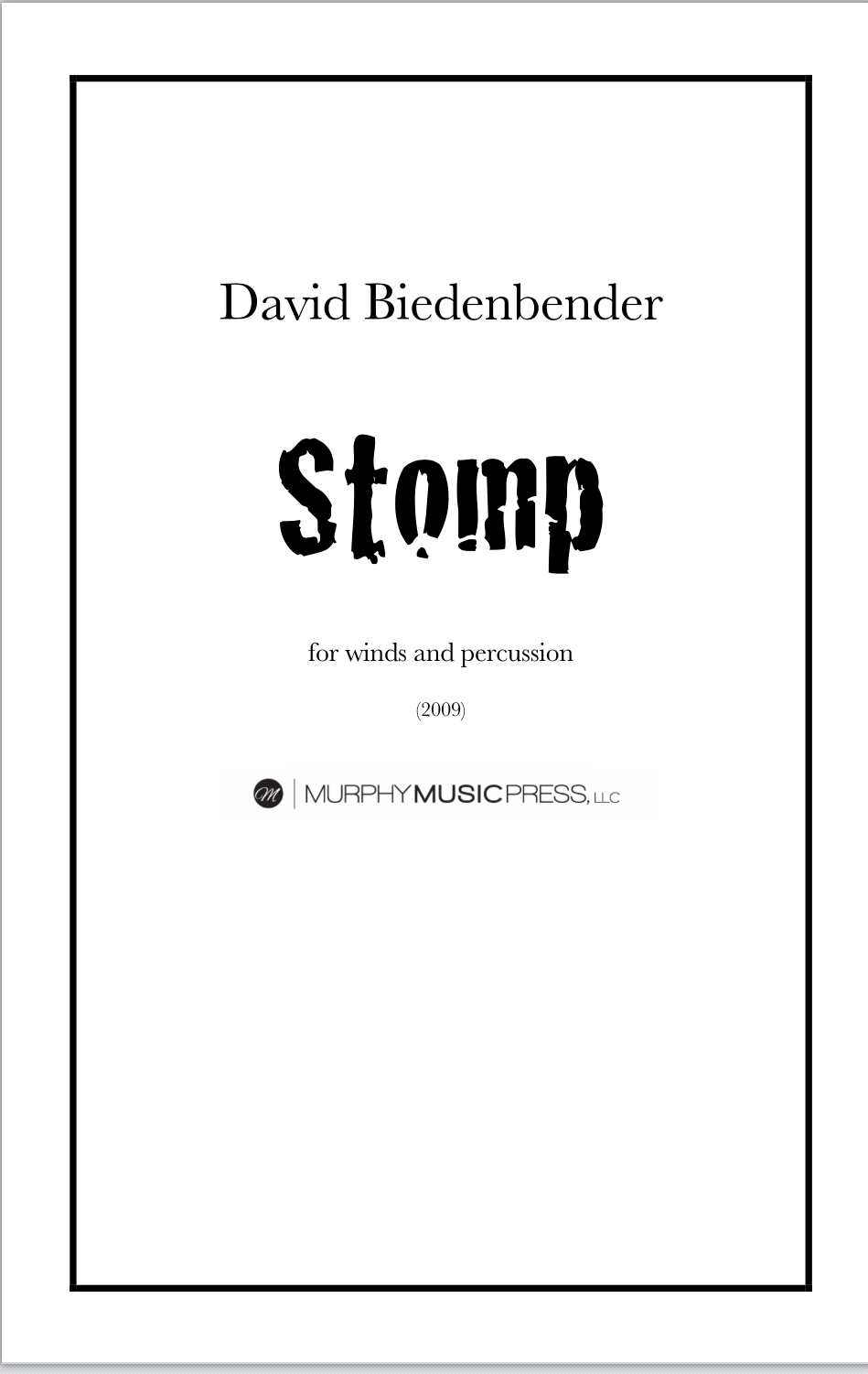 Stomp by David Biedenbender