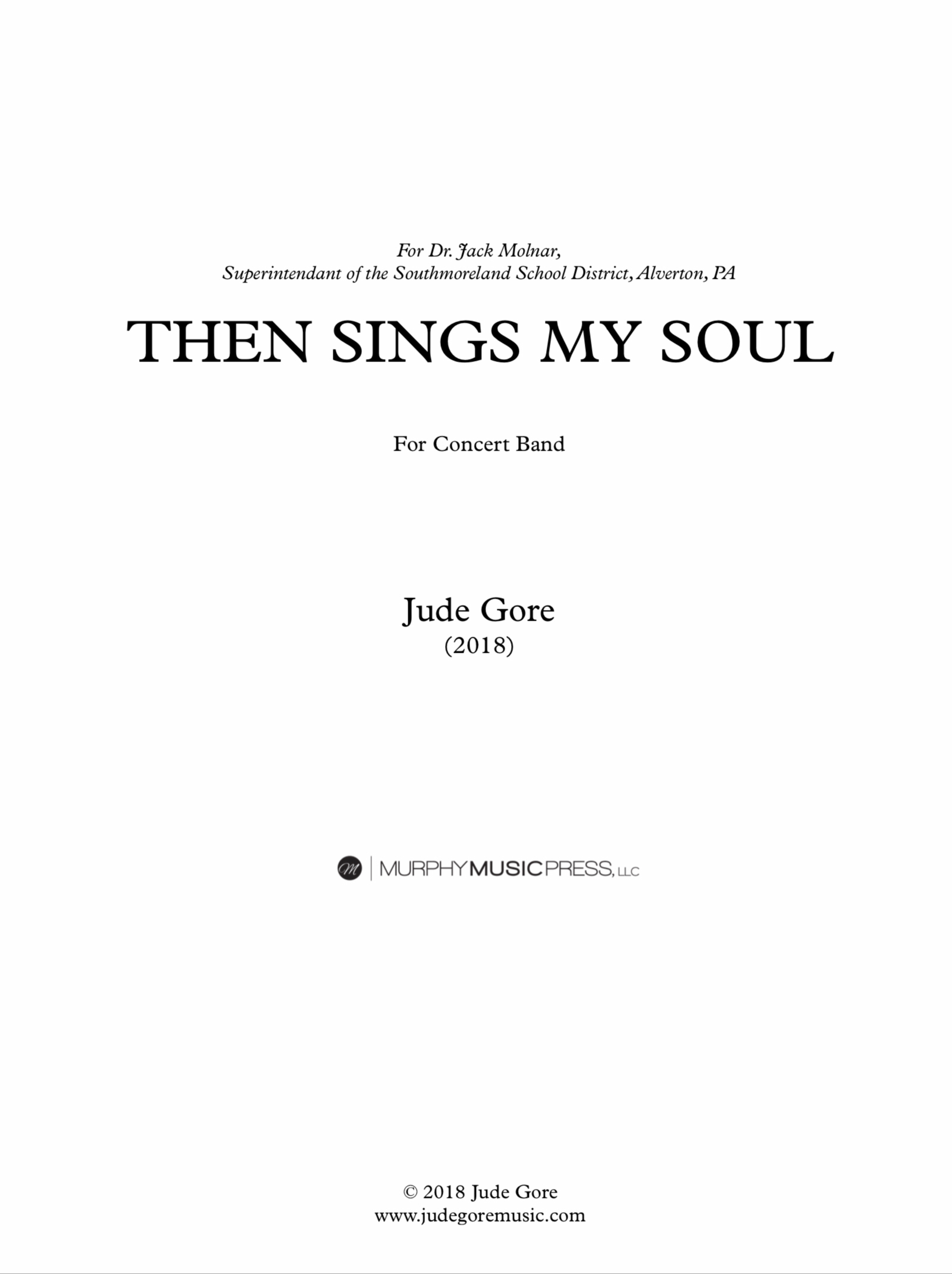 Then Sings My Soul (Score Only) by Jude Gore