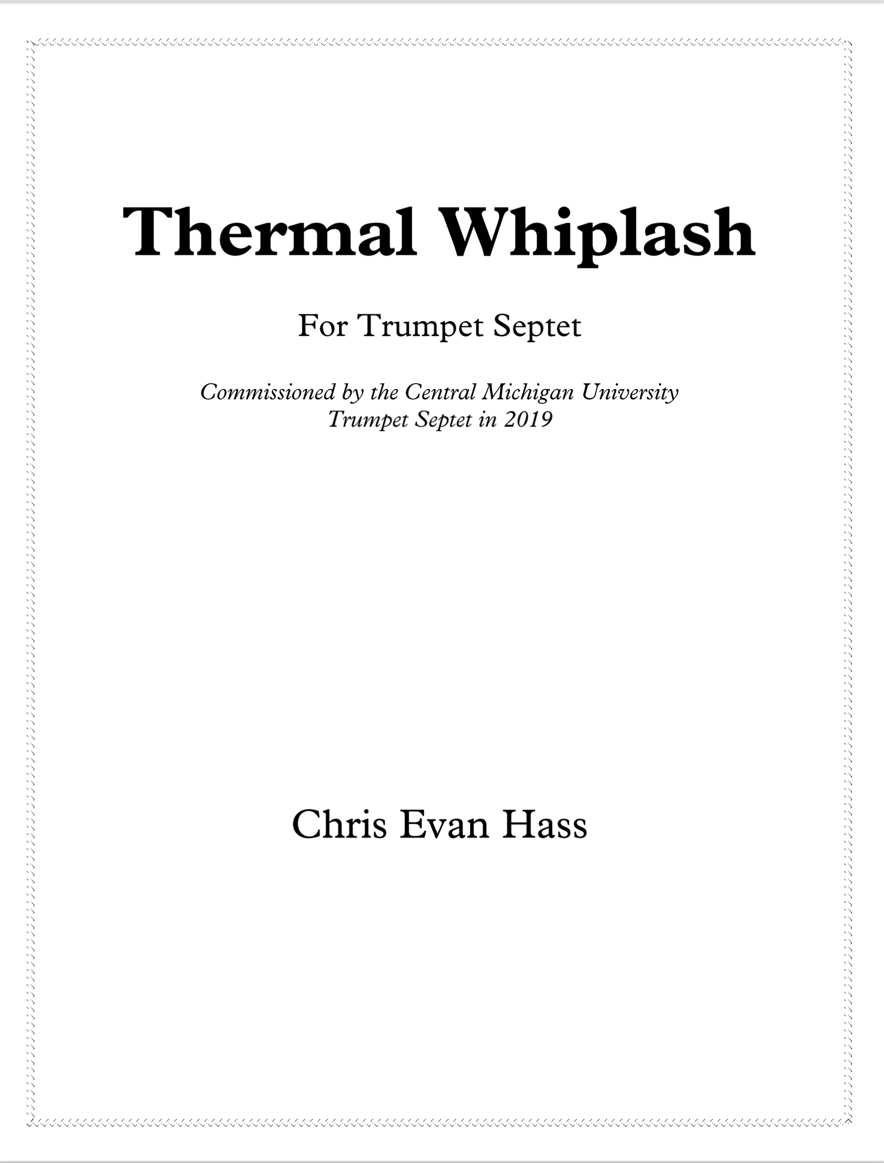 Thermal Whiplash by Chris Evan Hass