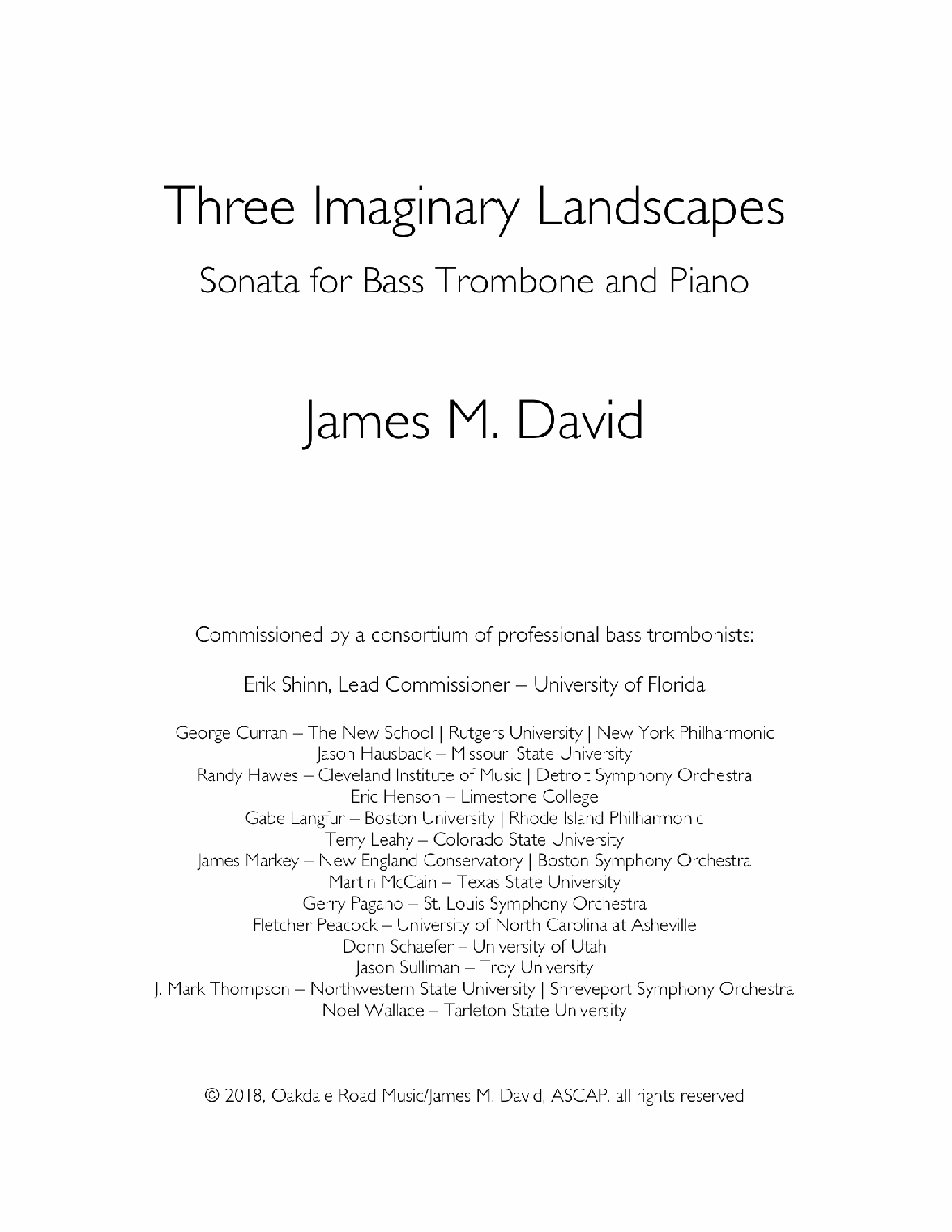 Three Imaginary Landscapes by James David