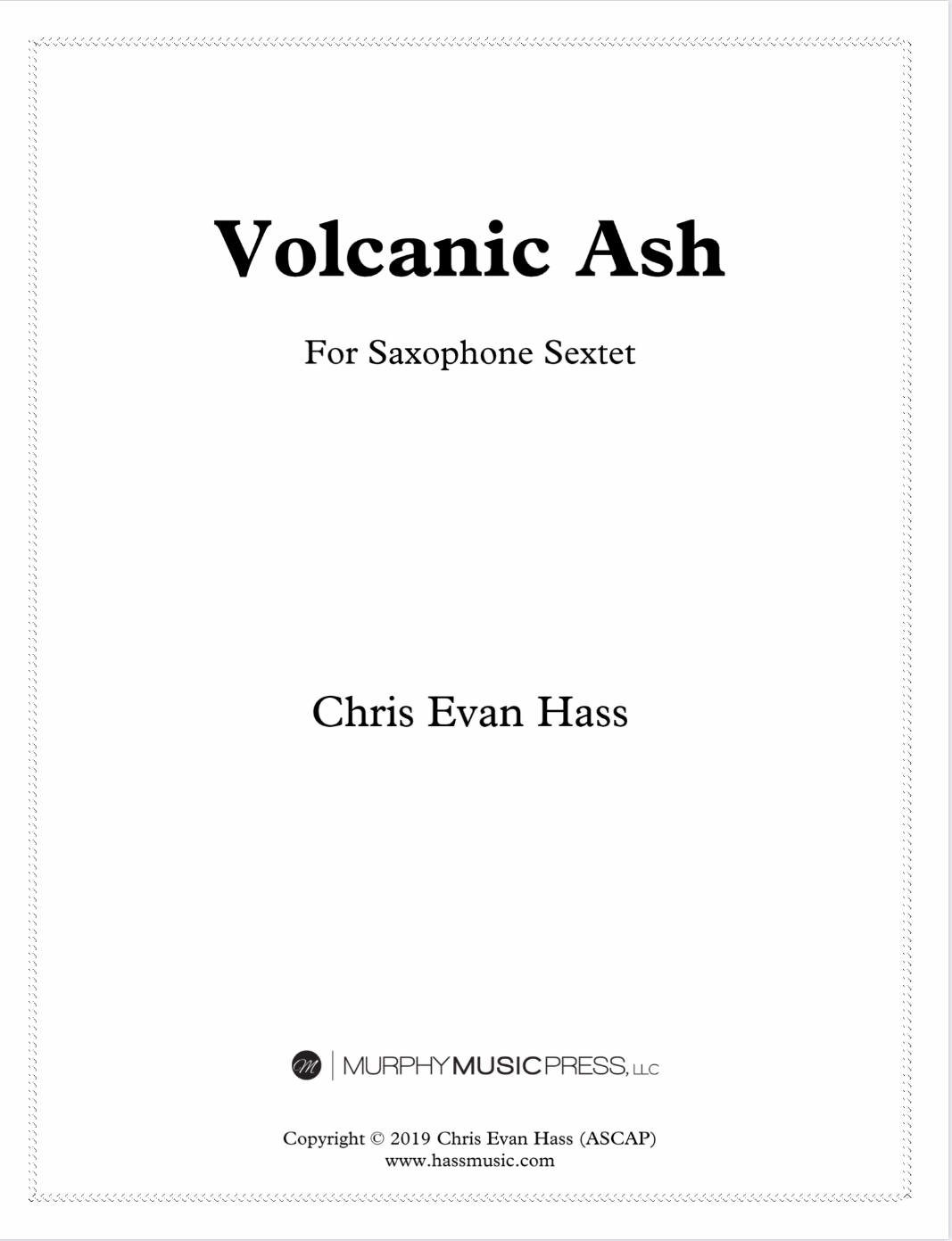 Volcanic Ash (Saxophone Ensemble Version) by Chris Evan Hass