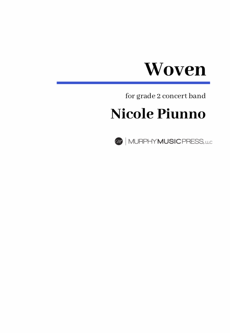 Woven (score Only) by Nicole Piunno
