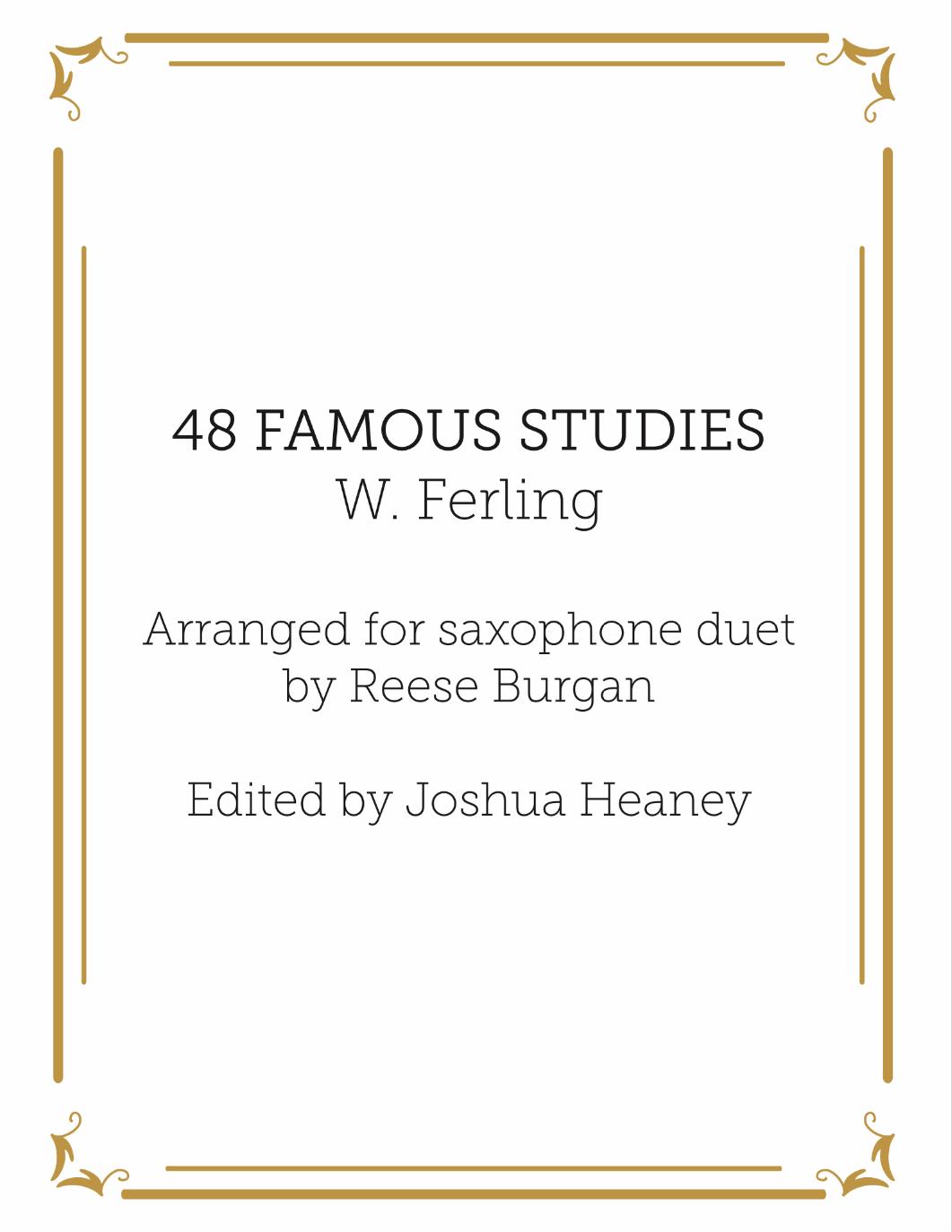 48 Famous Studies For Saxophone Duet by Ferling arr. Burgan