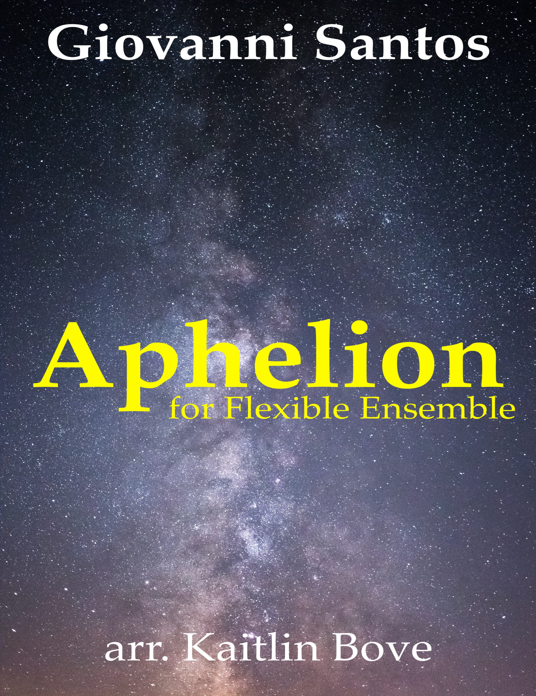 Aphelion (Flex Version) by Giovanni Santos, arr. Bove