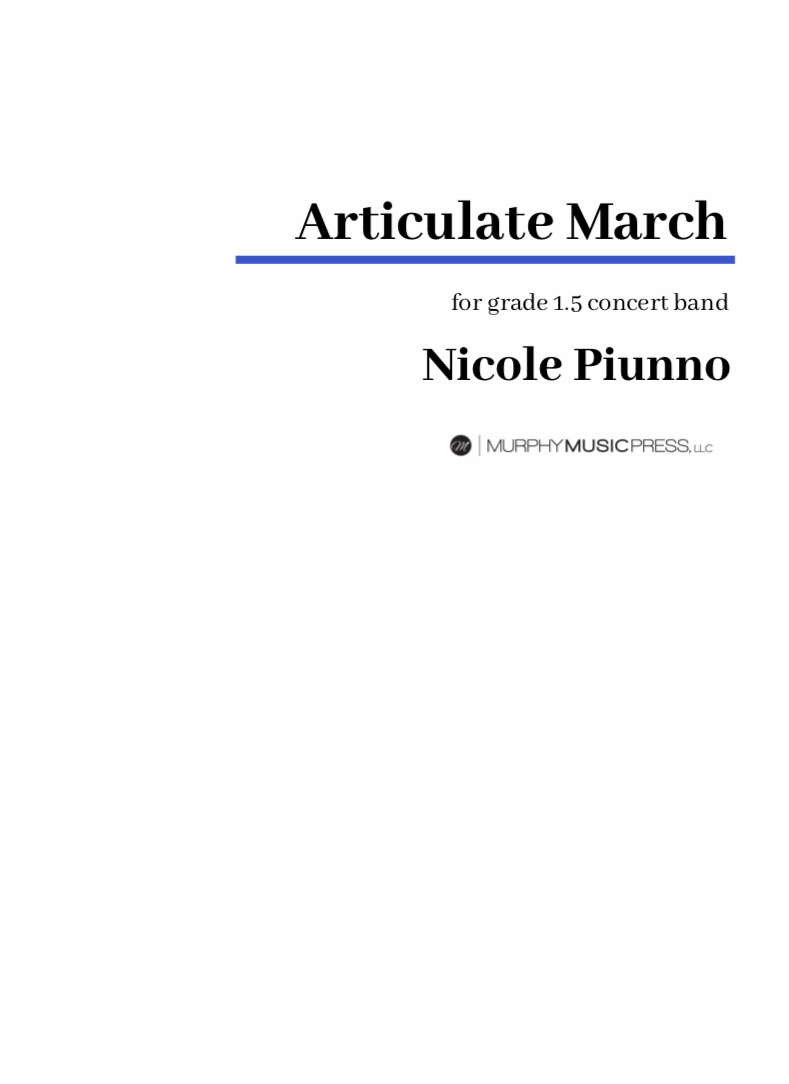 Articulate March by Nicole Piunno
