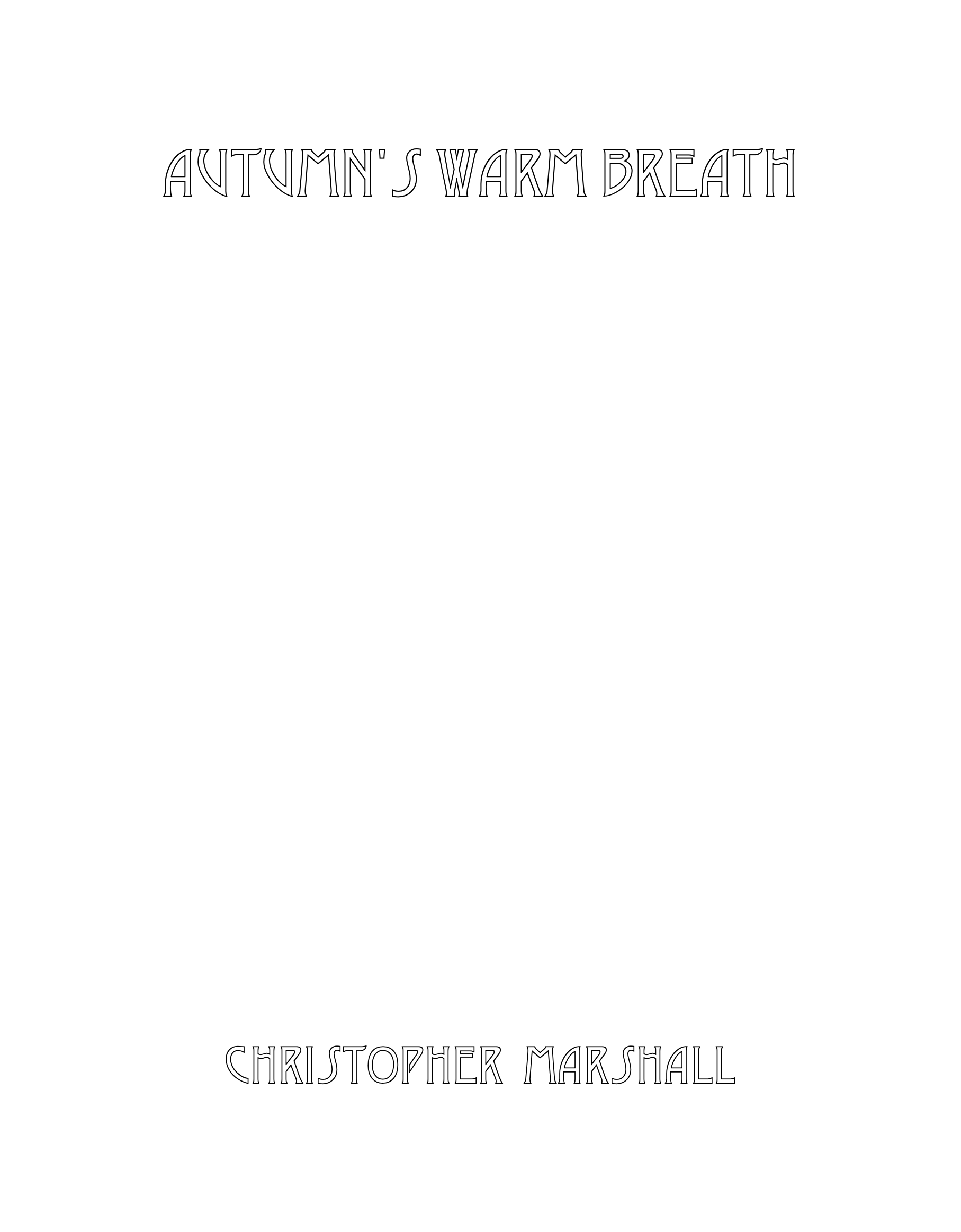 Autumn's Warm Breath by Christopher Marshall