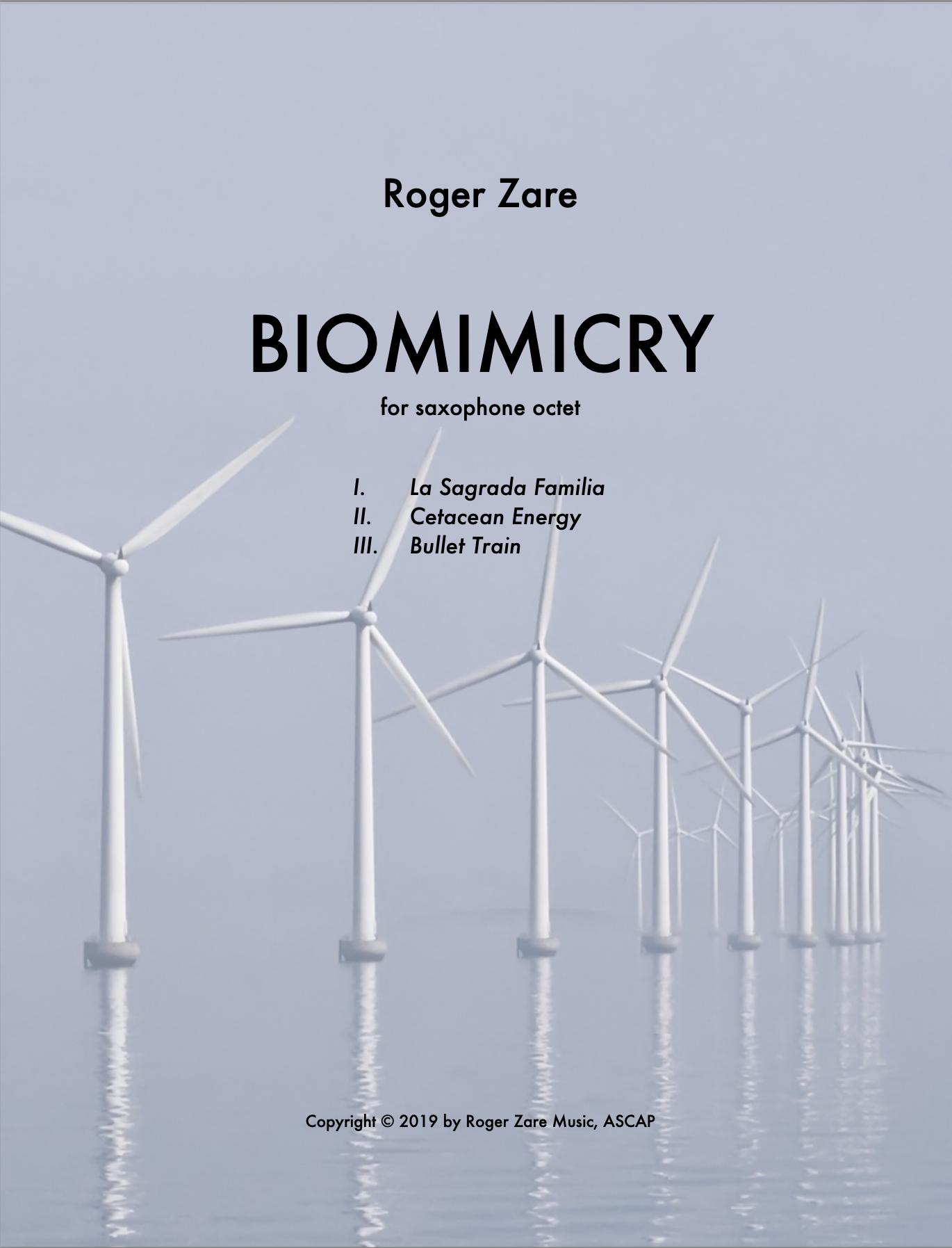 Biomimicry (Saxophone Ensemble Version) by Roger Zare