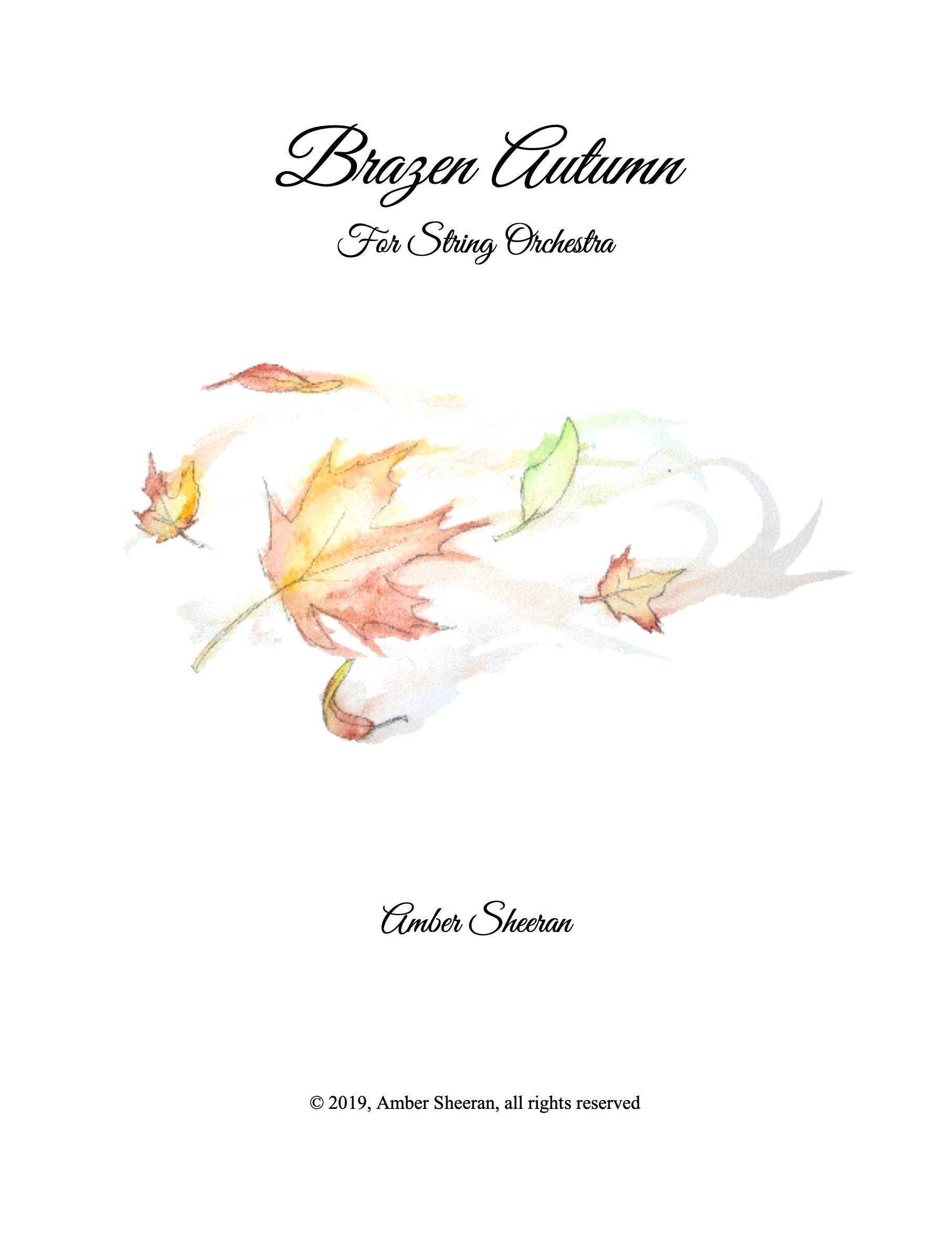 Brazen Autumn by Amber Sheeran