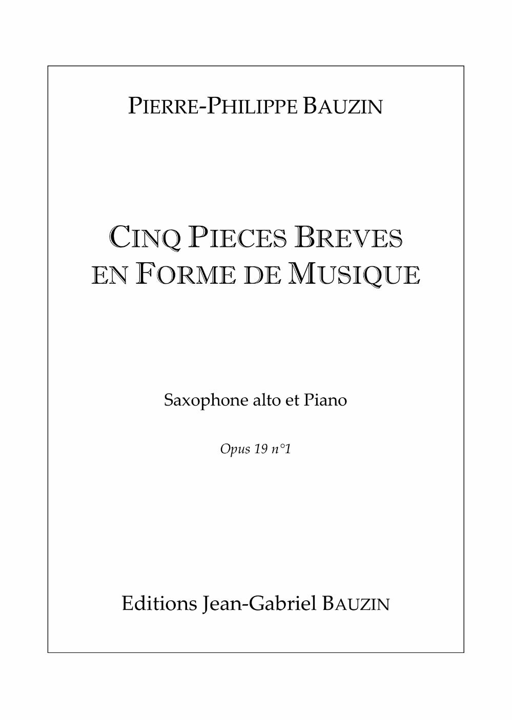 Cinq Pieces by Pierre-Philippe Bauzin