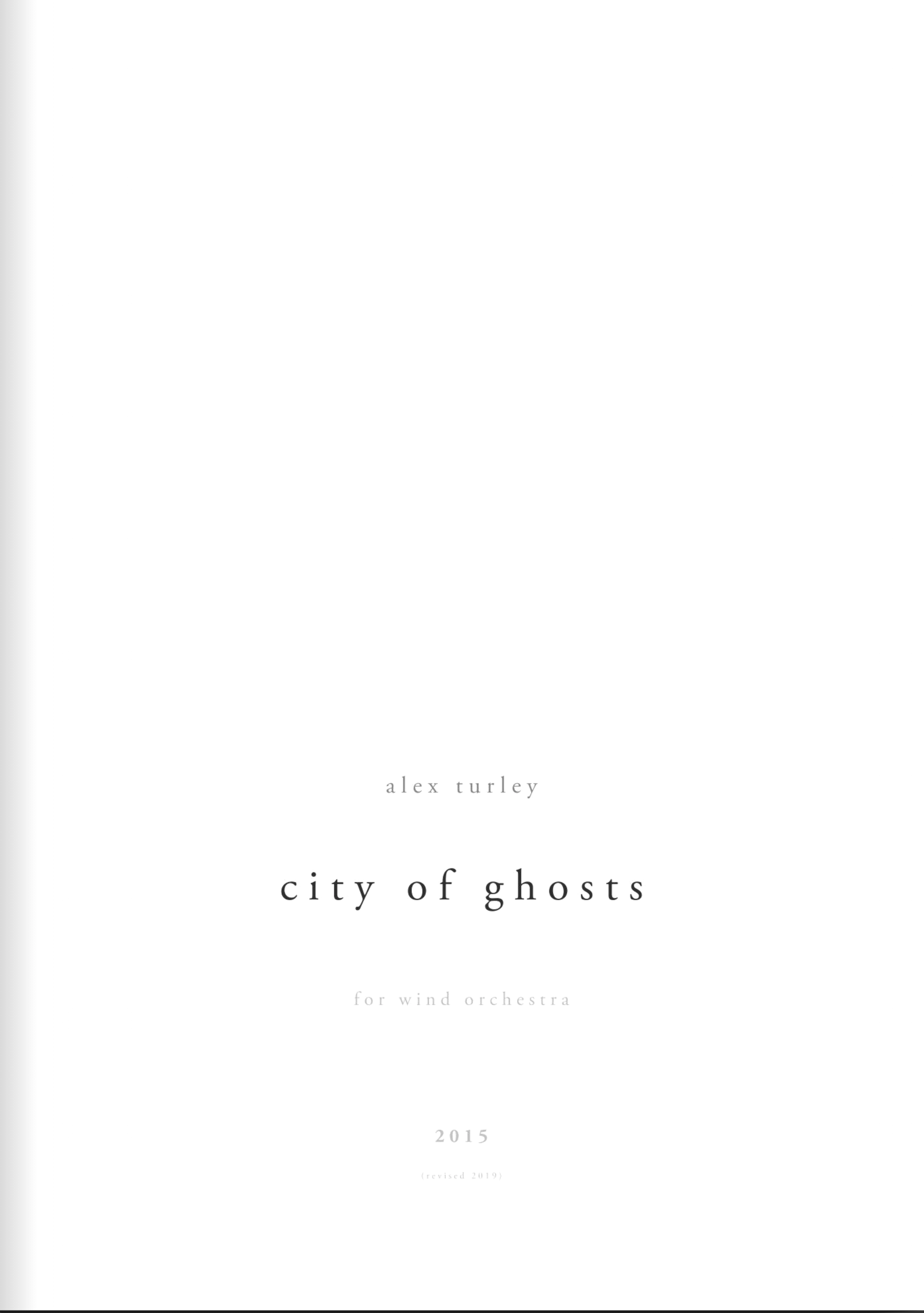 City Of Ghosts (Score Only) by Alex Turley