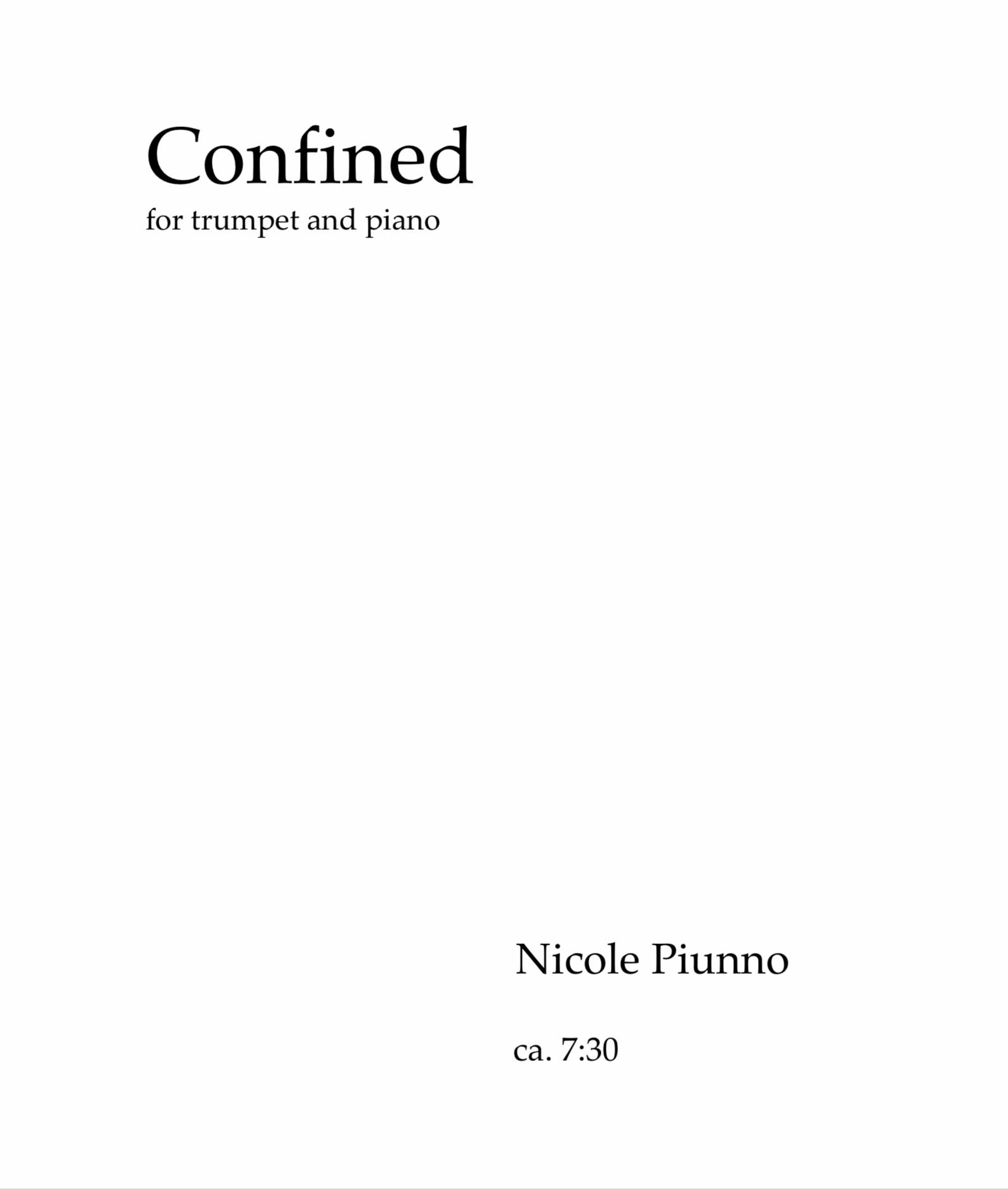 Confined by Nicole Piunno