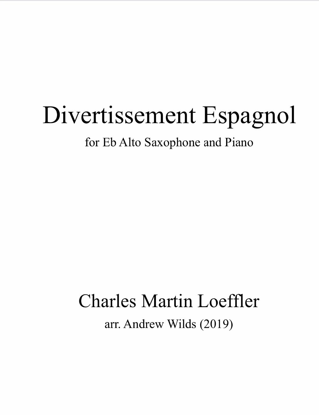 Divertissement Espagnol by arr. Andy Wilds