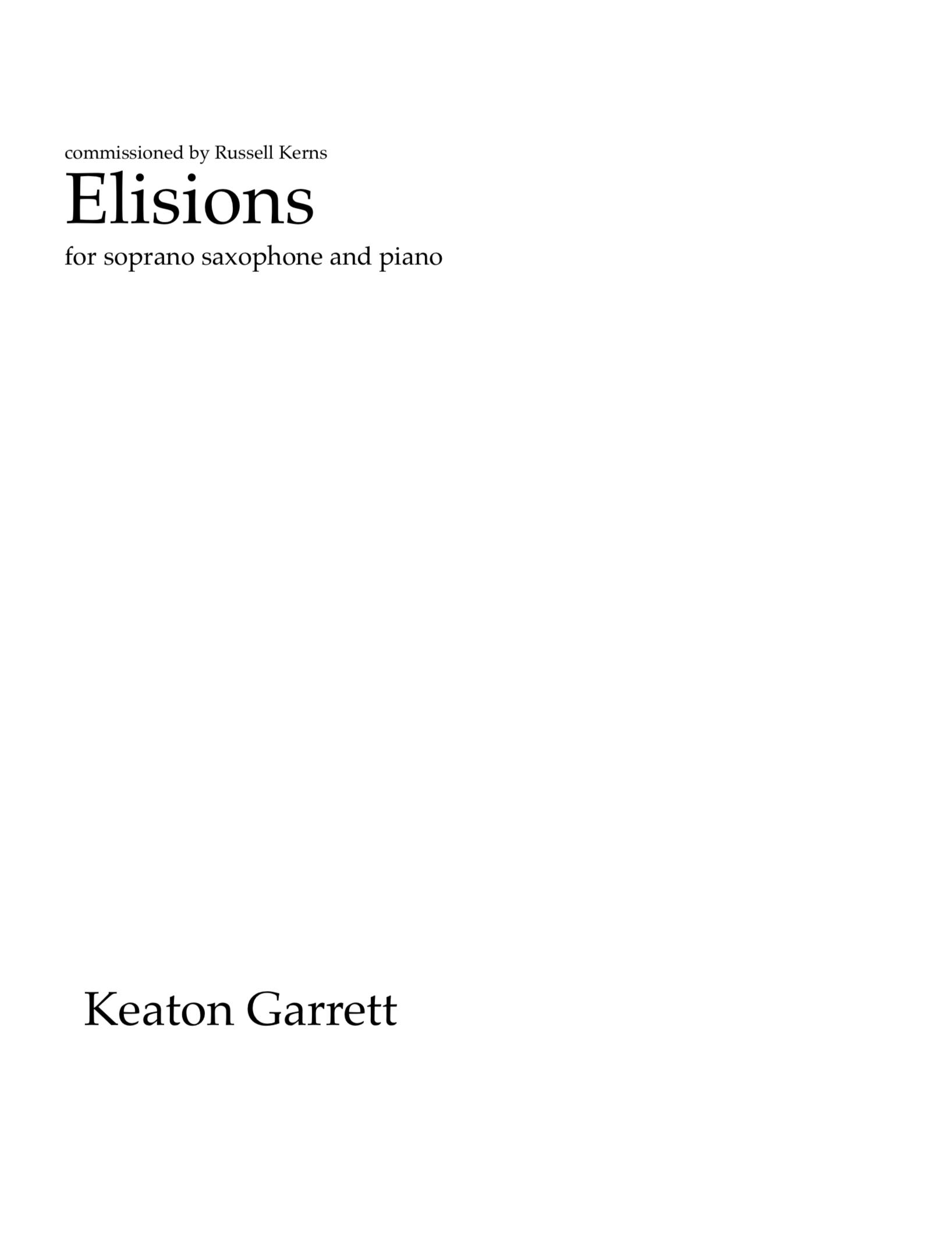 Elisions by Keaton Garrett