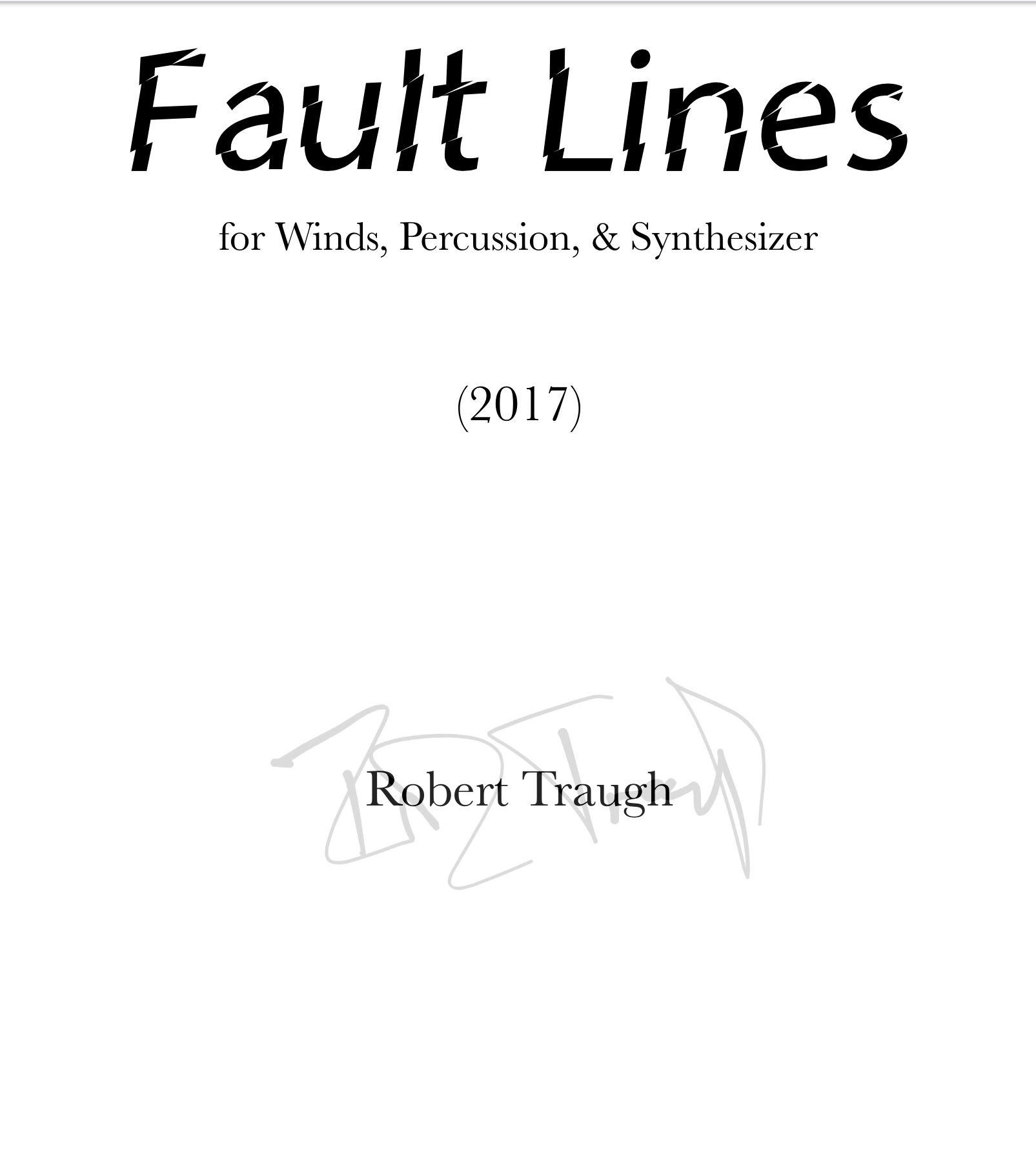 Fault Lines by Rob Traugh