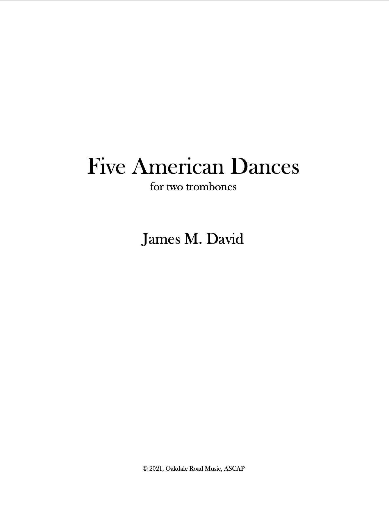 Five American Dances by James David